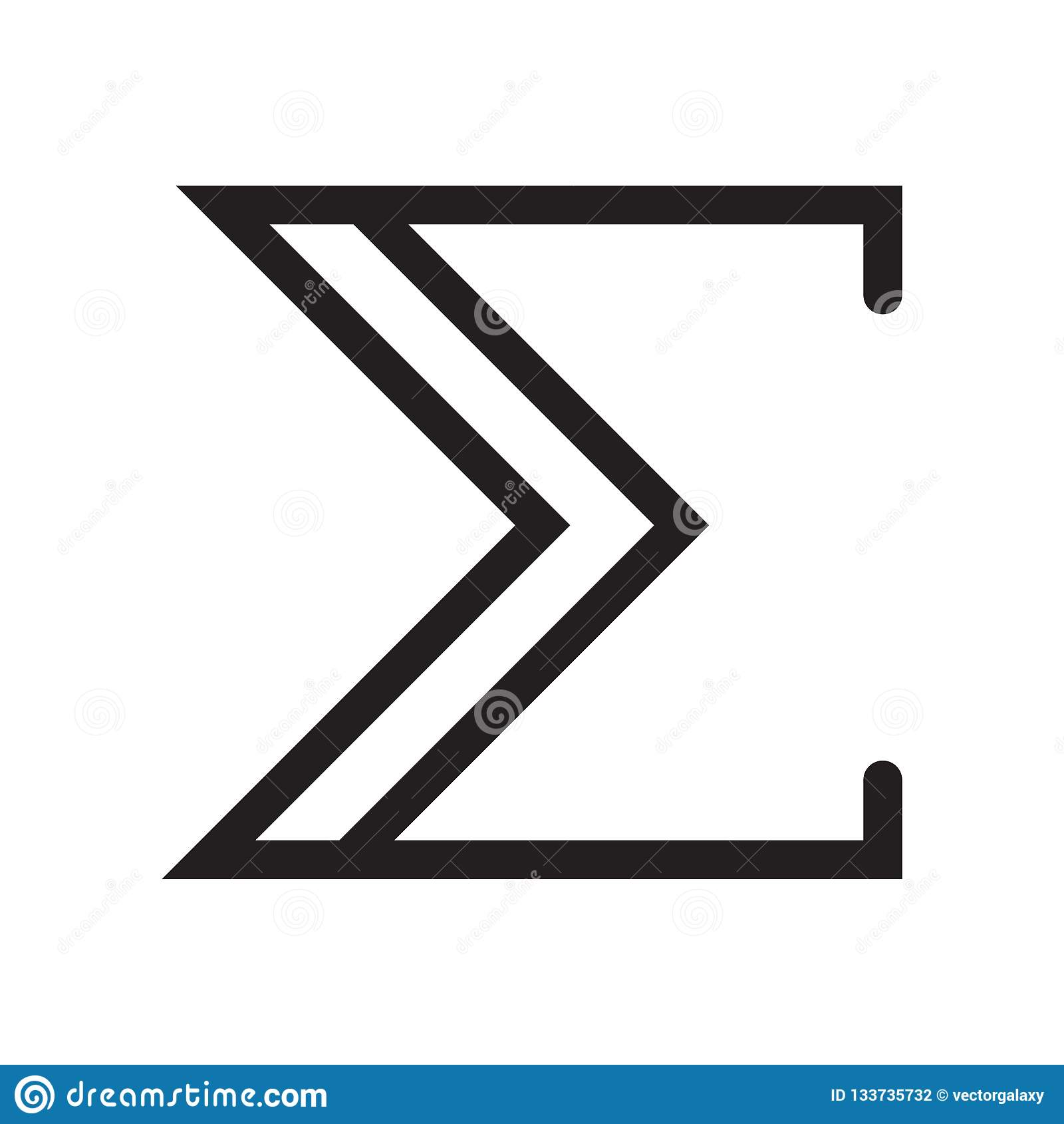 标志象传染媒介标志的在白色背景隔绝的总和和标志,标志商标概念的总和
