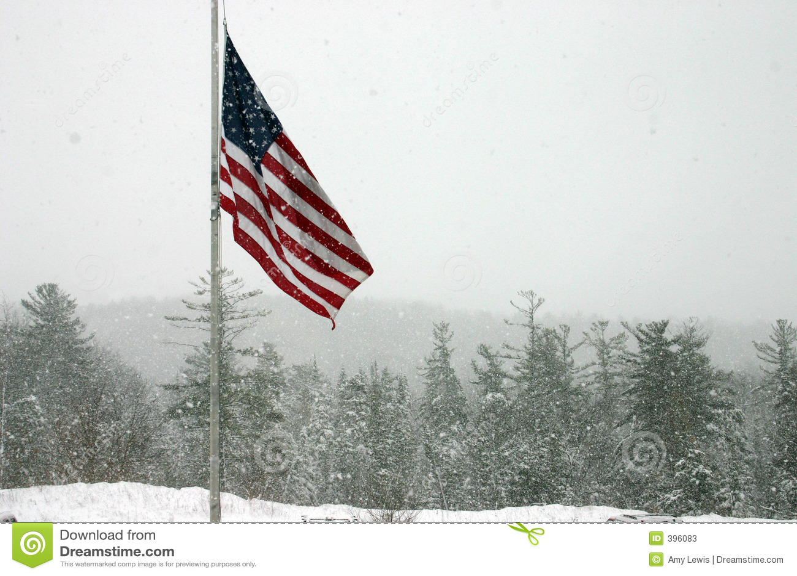 标志雪风暴