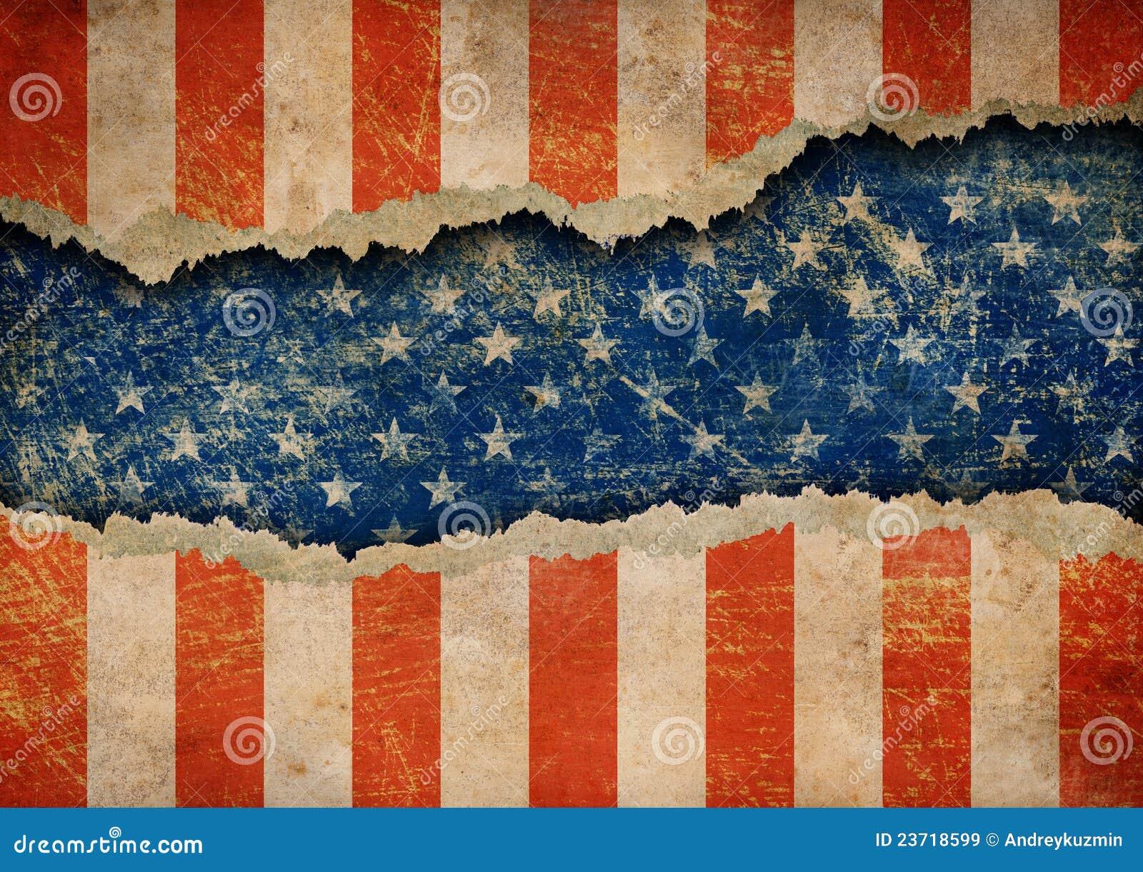 标志grunge纸张模式被剥去的美国