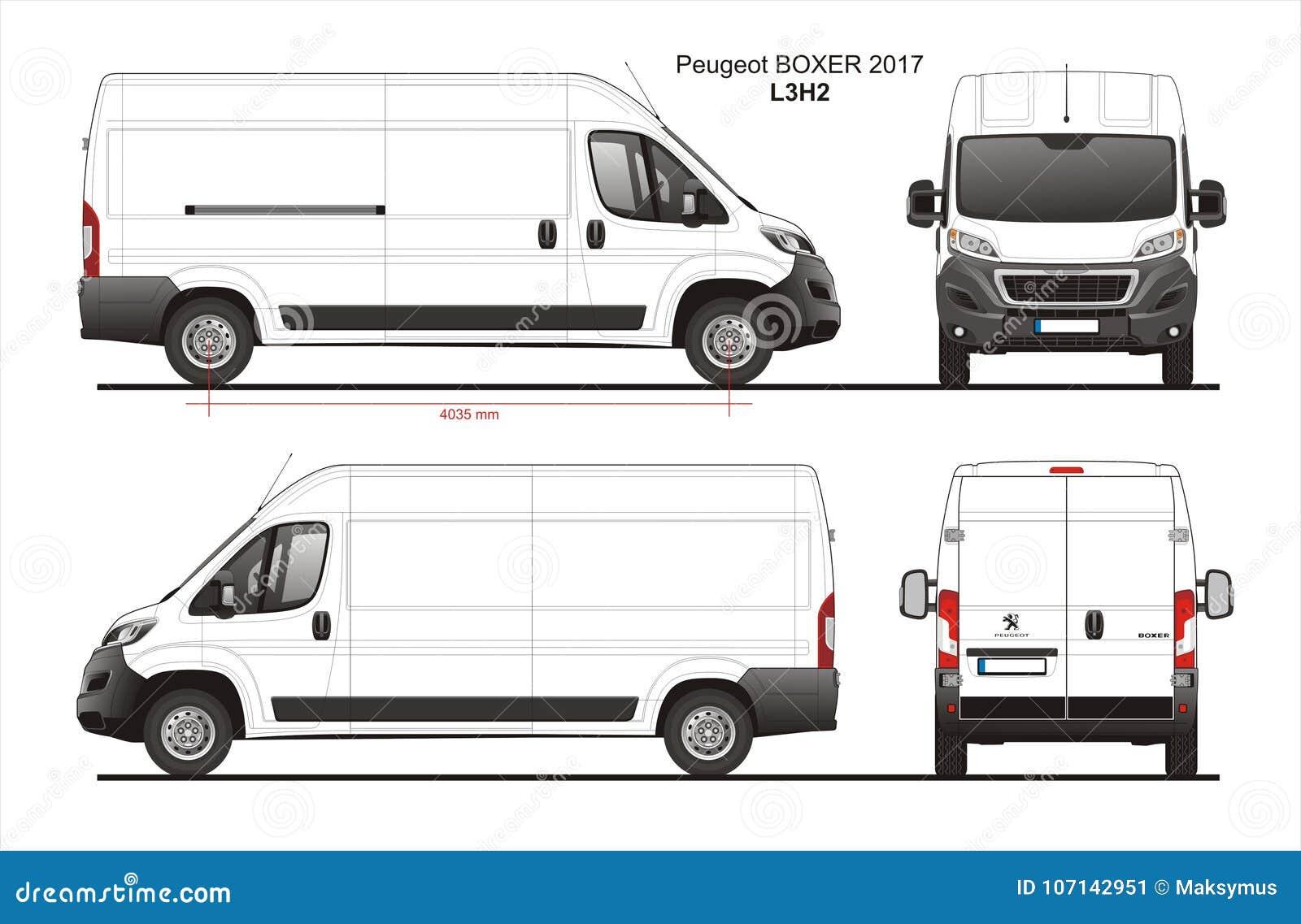 标致汽车拳击手货物送货车2017 L3H2图纸