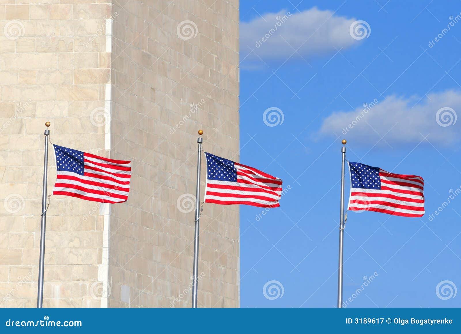 标记纪念碑华盛顿