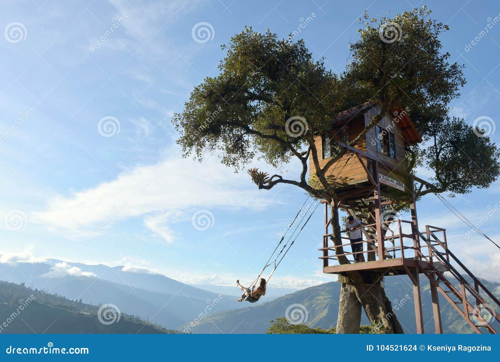 树上小屋在Banos De Aqua圣诞老人,厄瓜多尔,南美