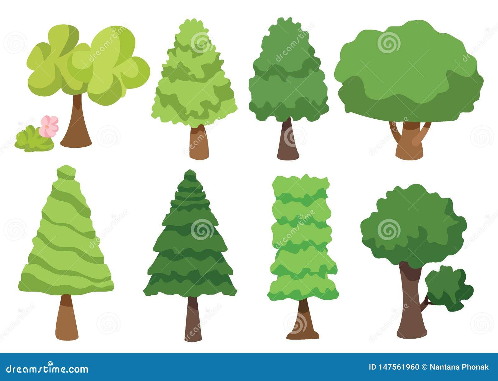 树在白色背景隔绝的传染媒介象,树商标概念