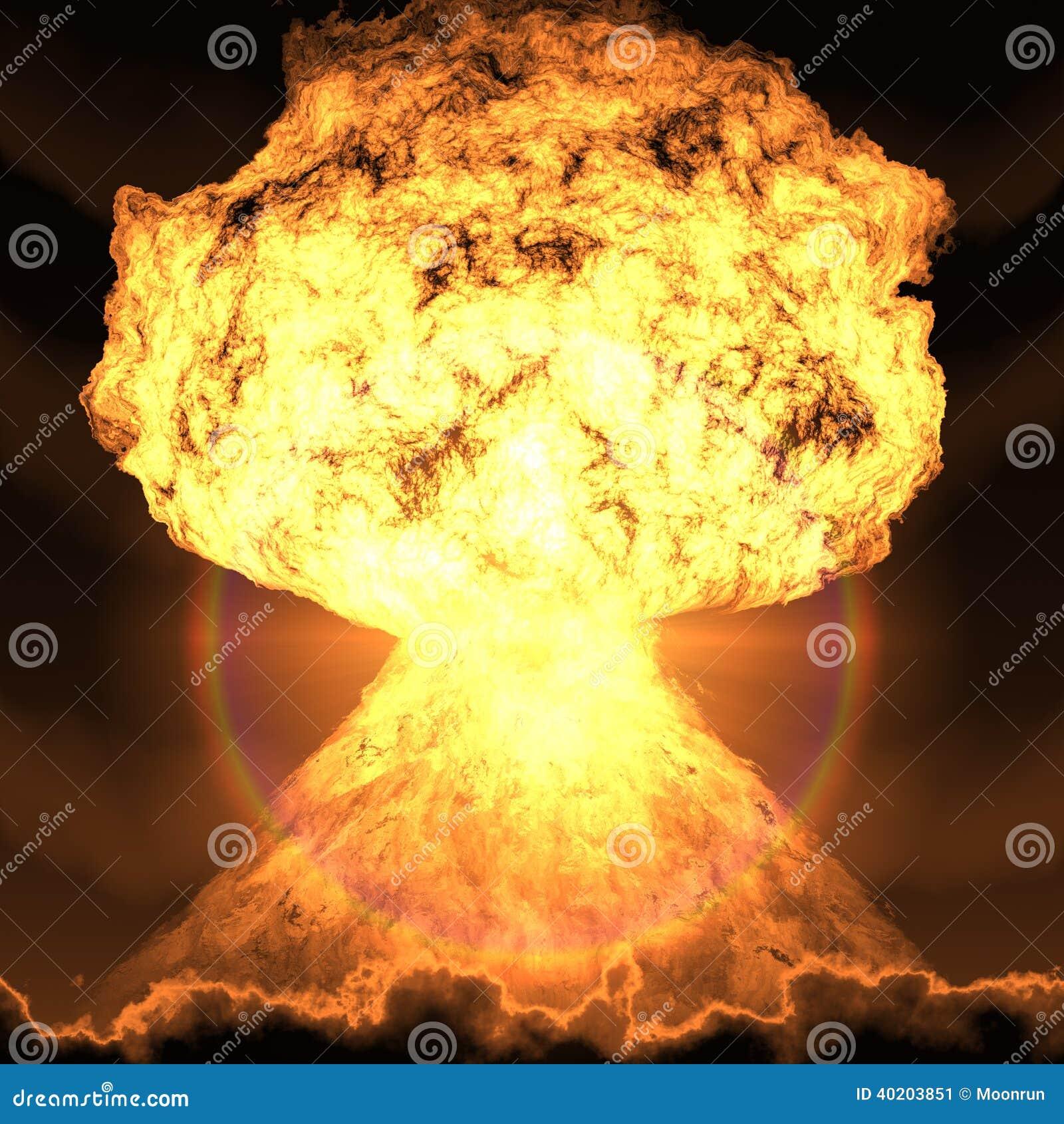 计算机生成核弹的爆炸.
