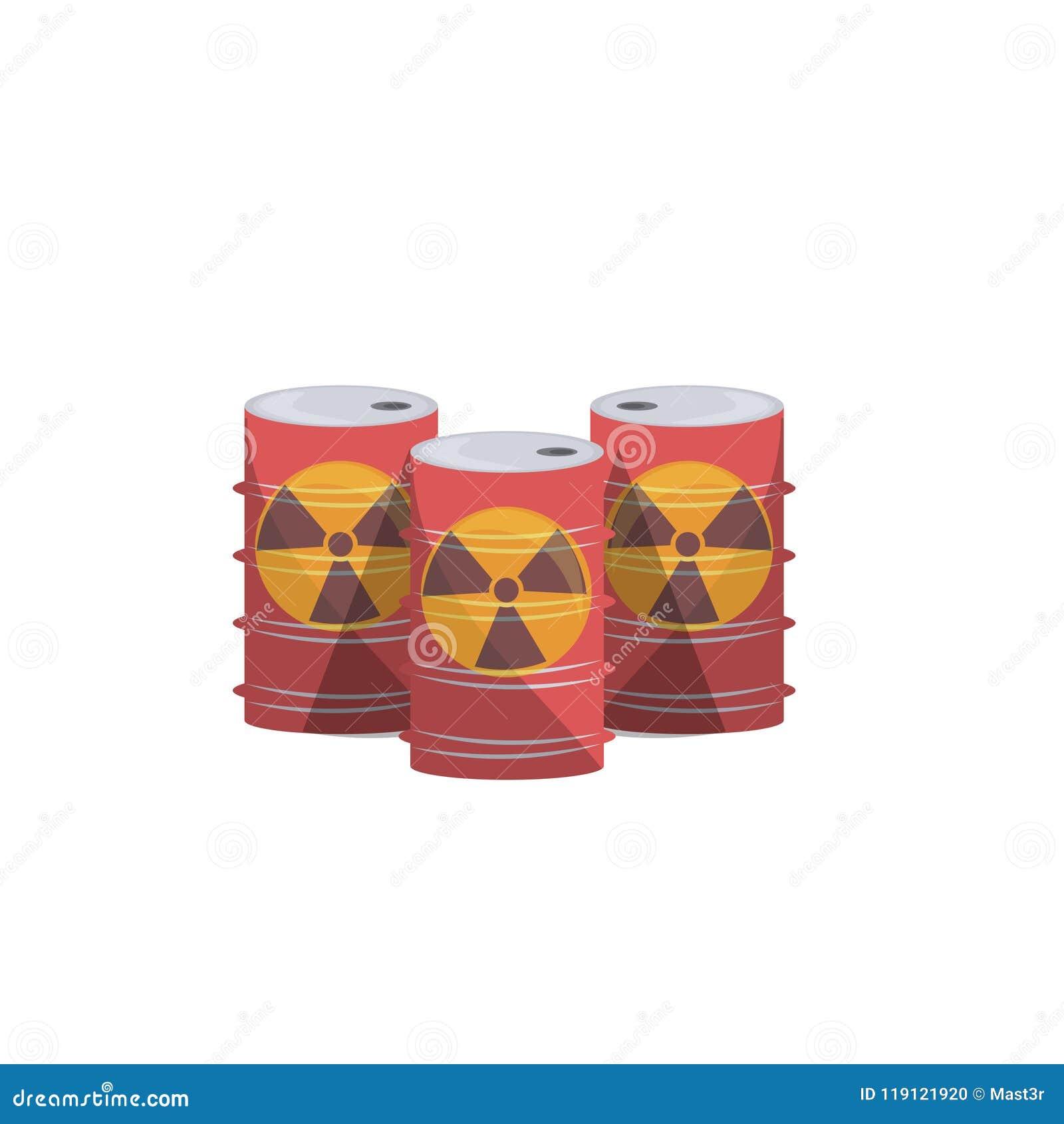 核能桶自然在白色背景舱内甲板隔绝的大气污染