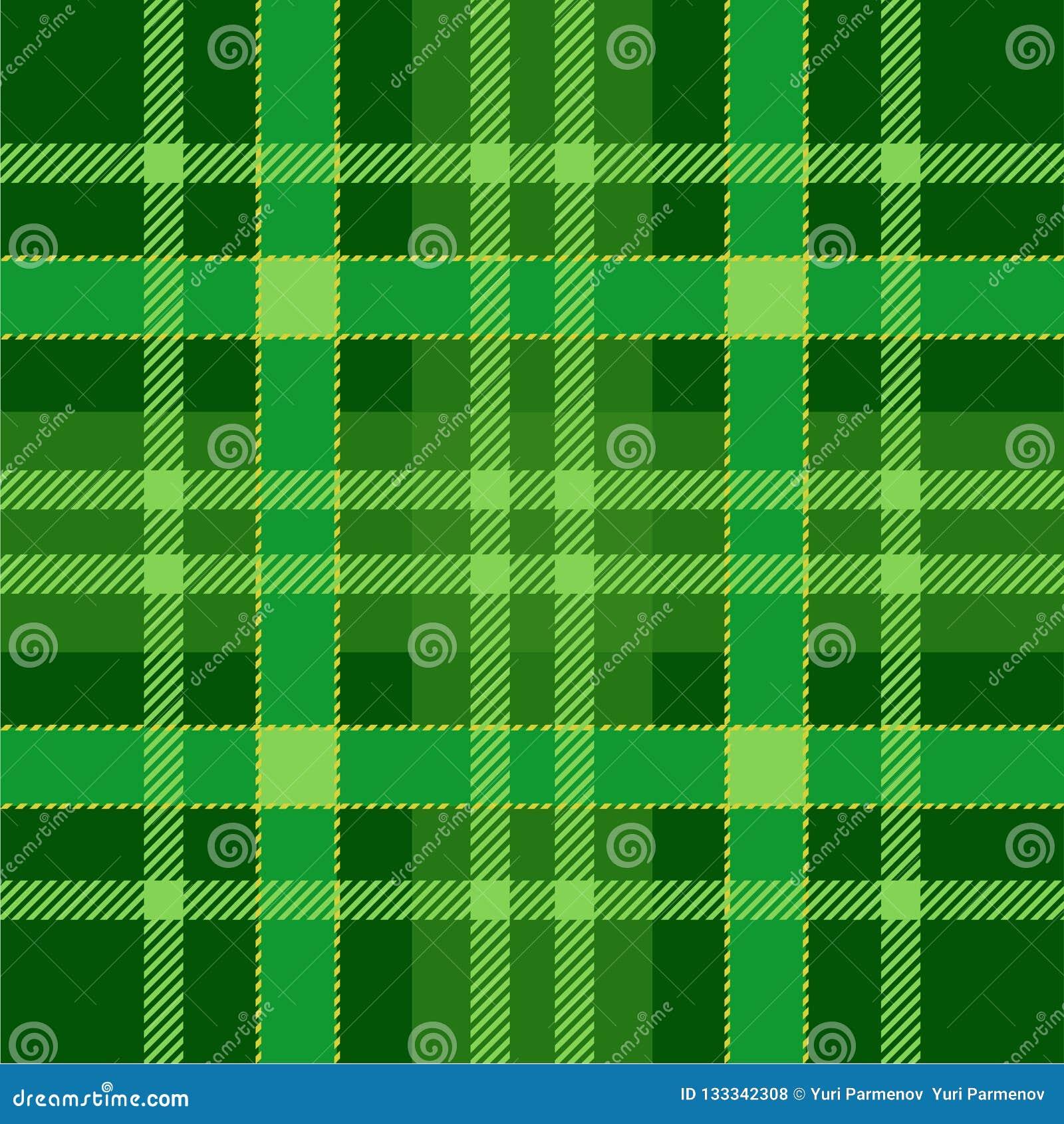 格子花呢披肩格子呢无缝的样式背景 绿色传统苏格兰装饰品 无缝的格子呢瓦片