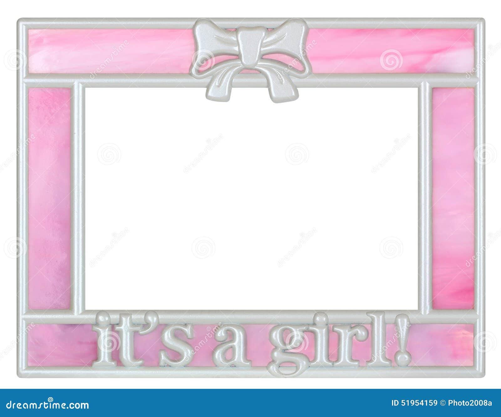 桃红色女婴画框