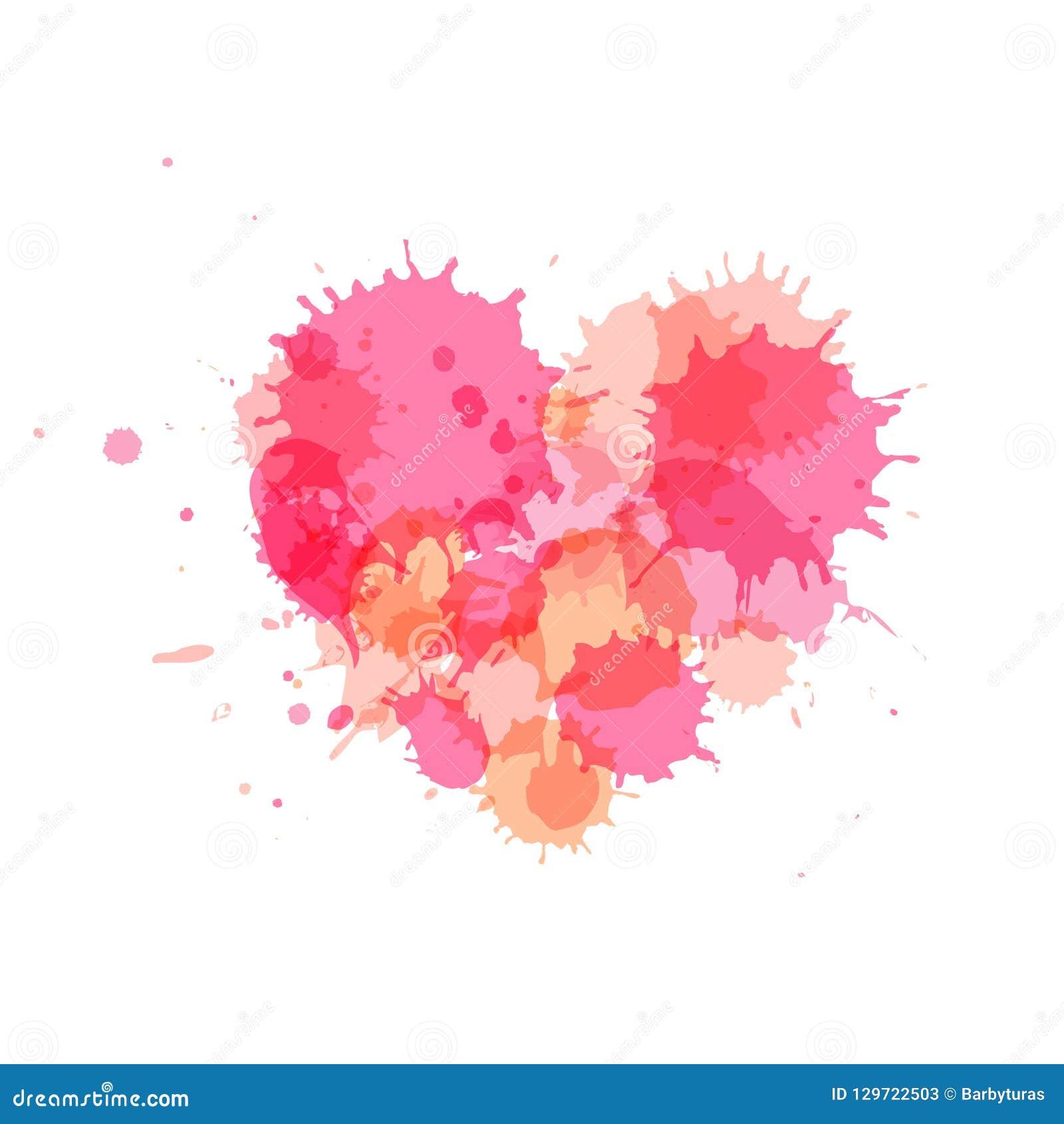 桃红色心脏,您的设计的传染媒介元素
