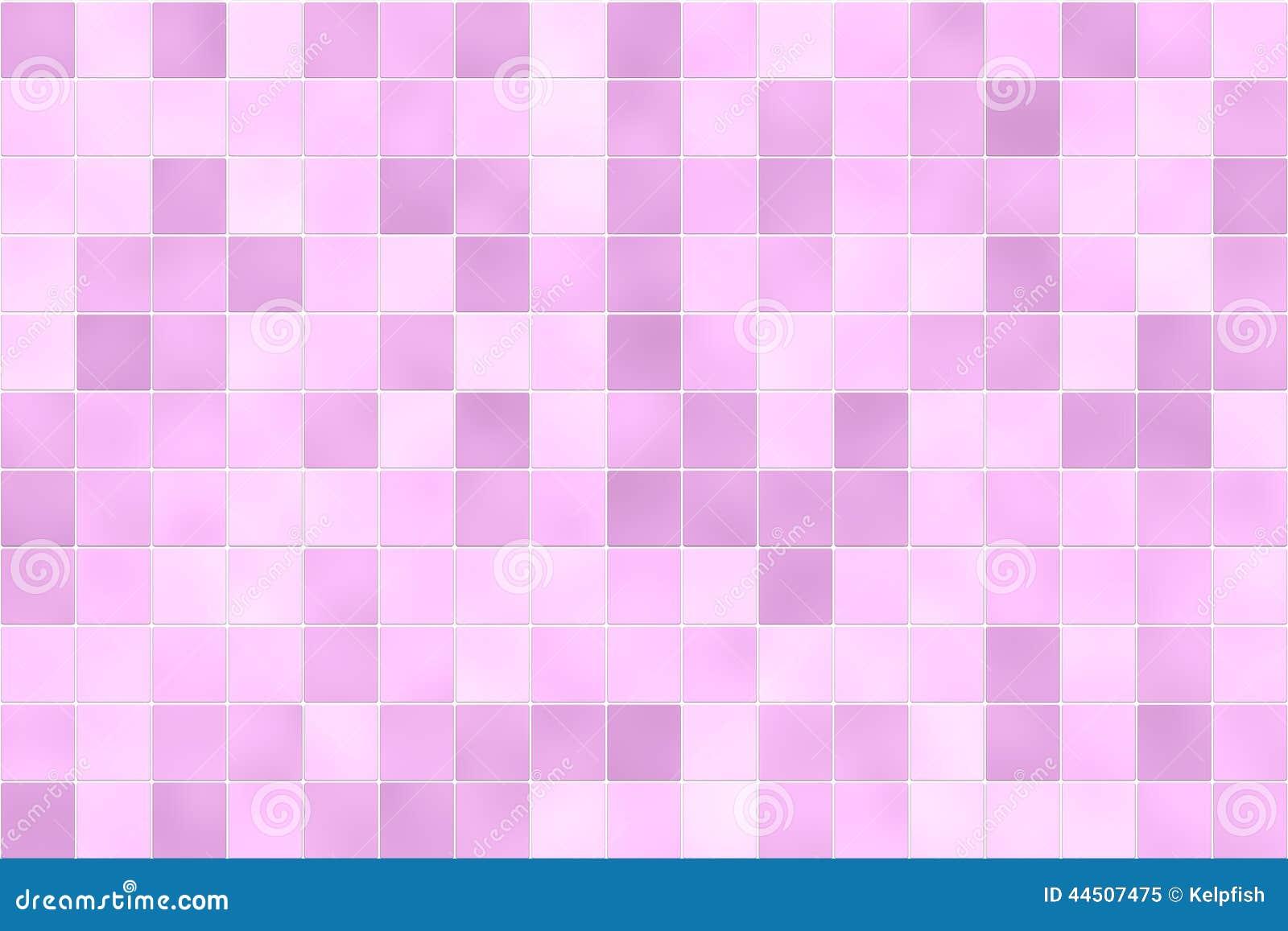 桃红色瓦片墙壁