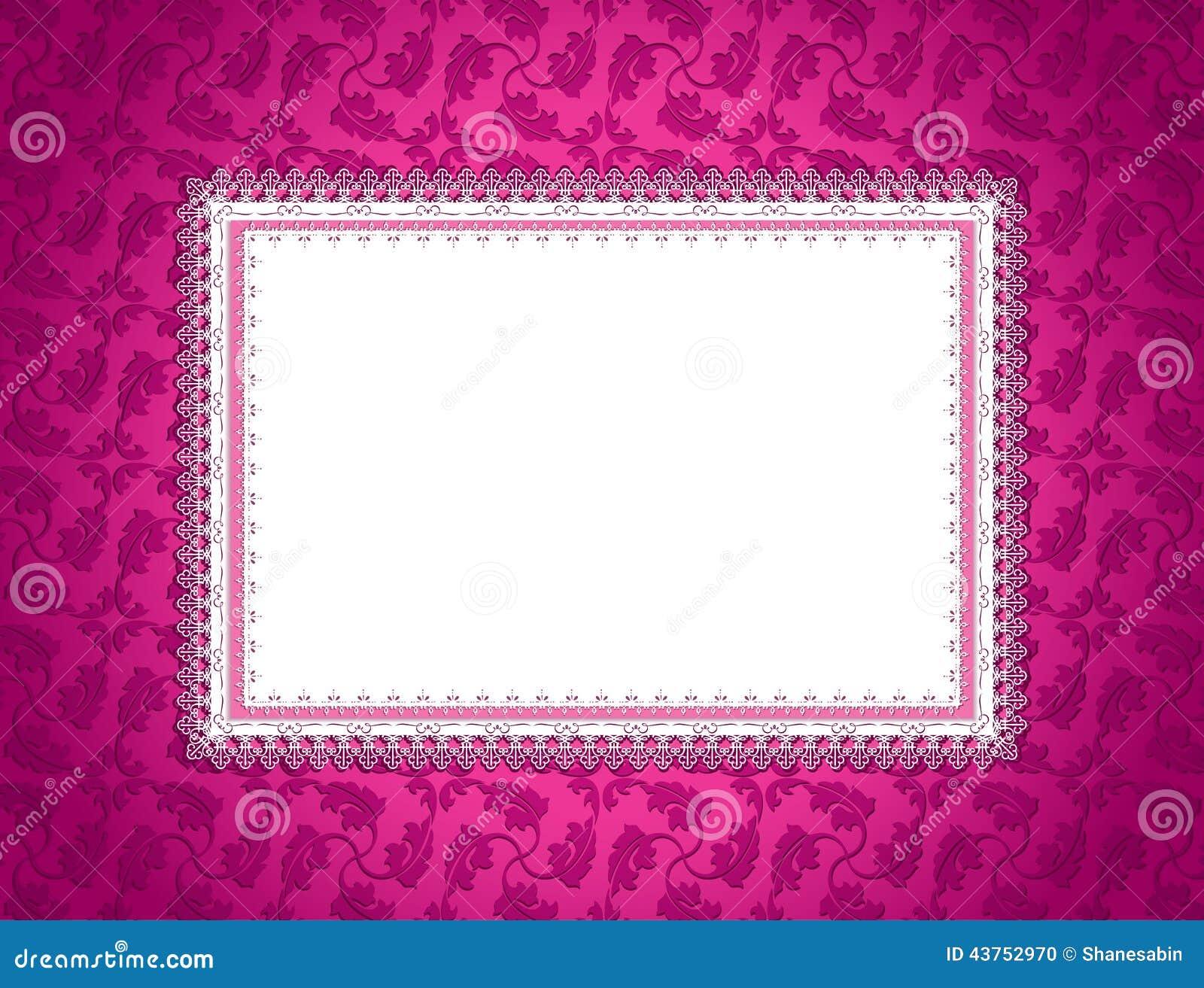 桃红色装饰卡片