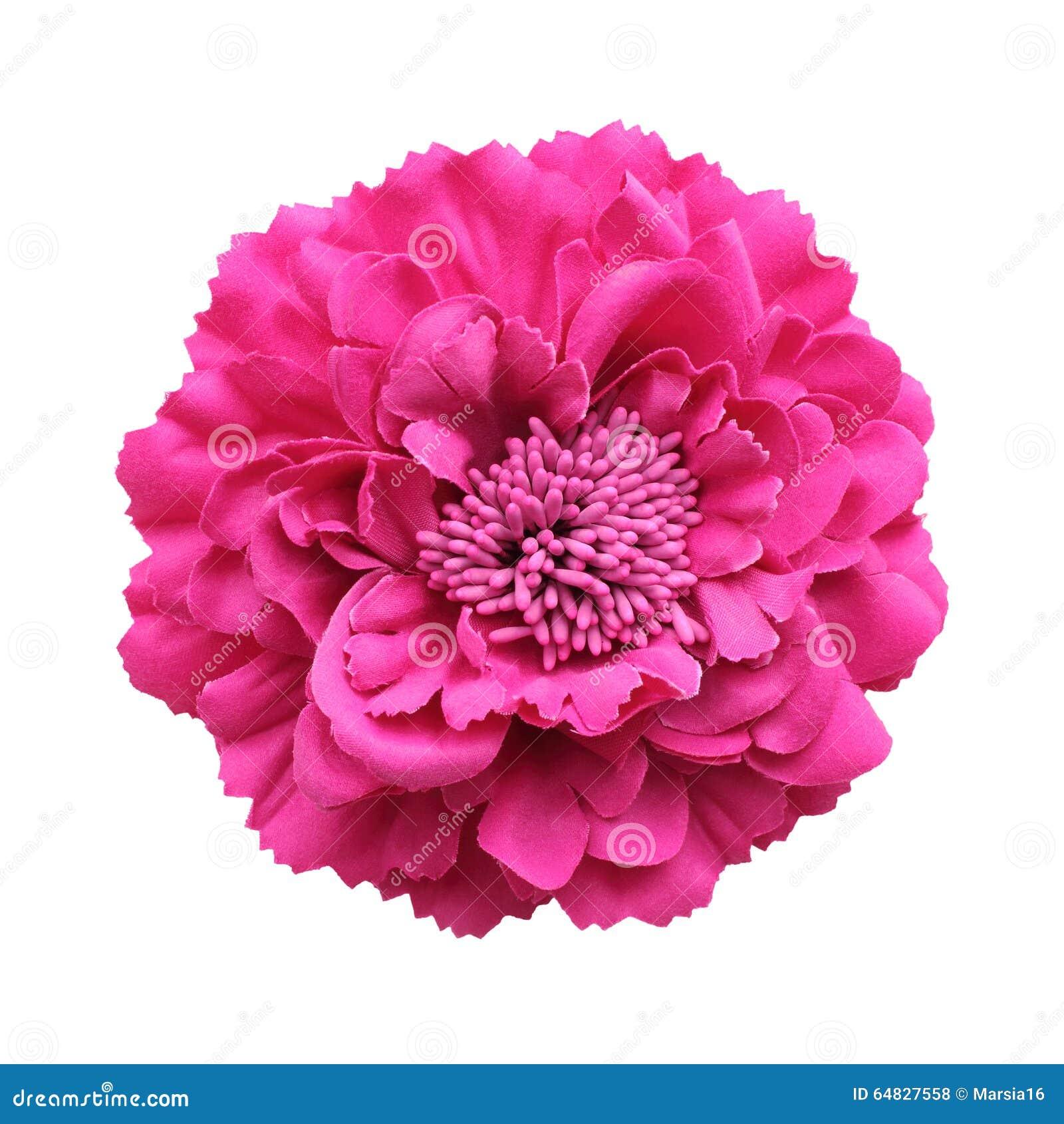 桃红色织品花
