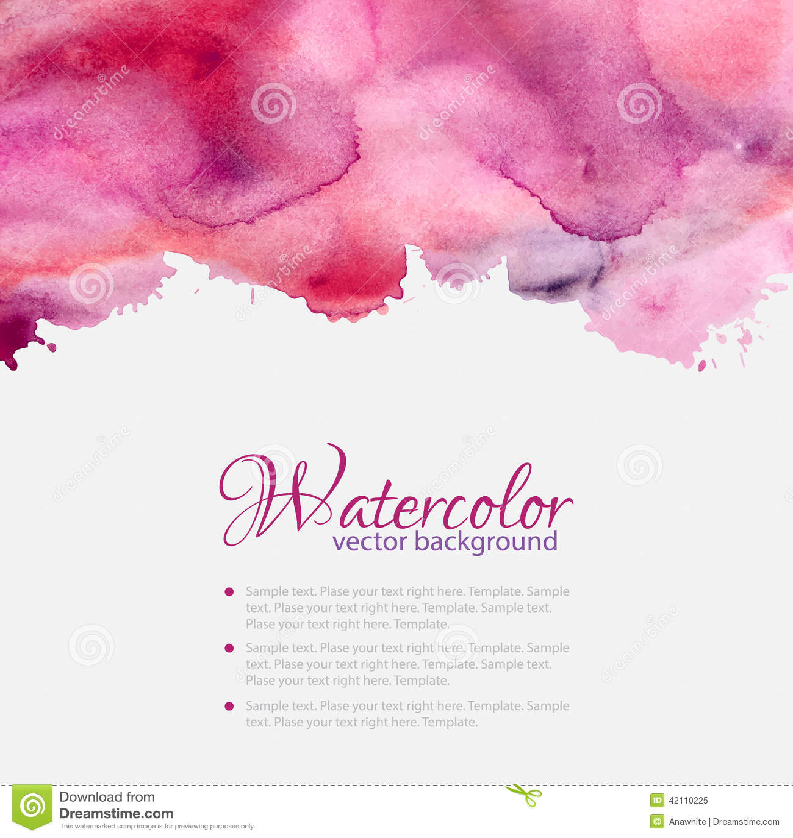 桃红色水彩弄脏样式顶面框架