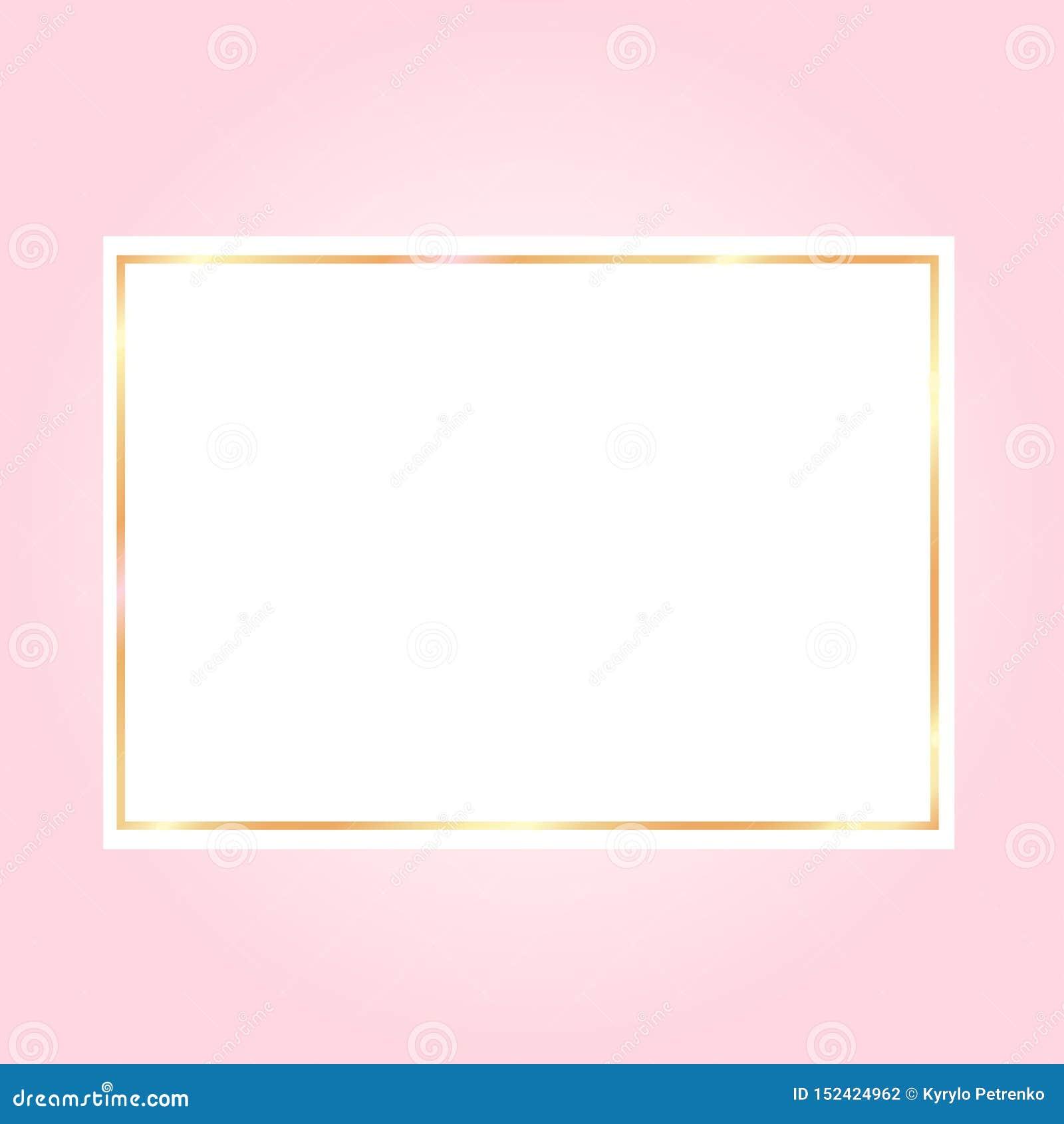 桃红色backgroundwith在白皮书的一个金黄框架