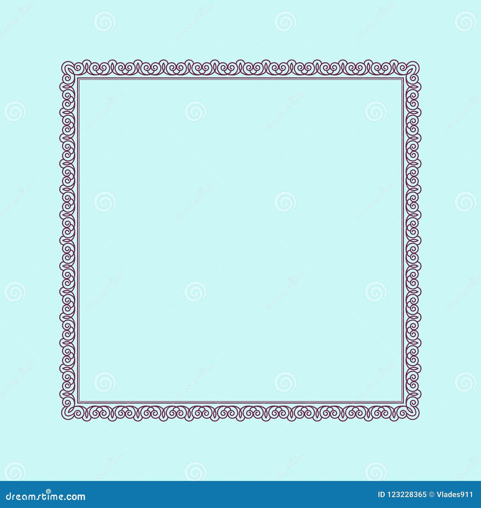 框架优美的古董 也corel凹道例证向量 安置文本