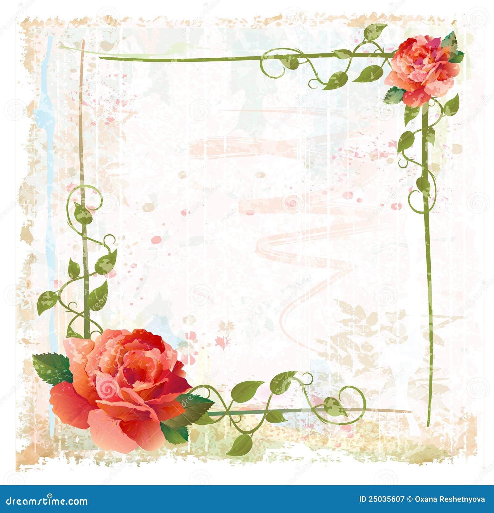 框架常春藤红色玫瑰