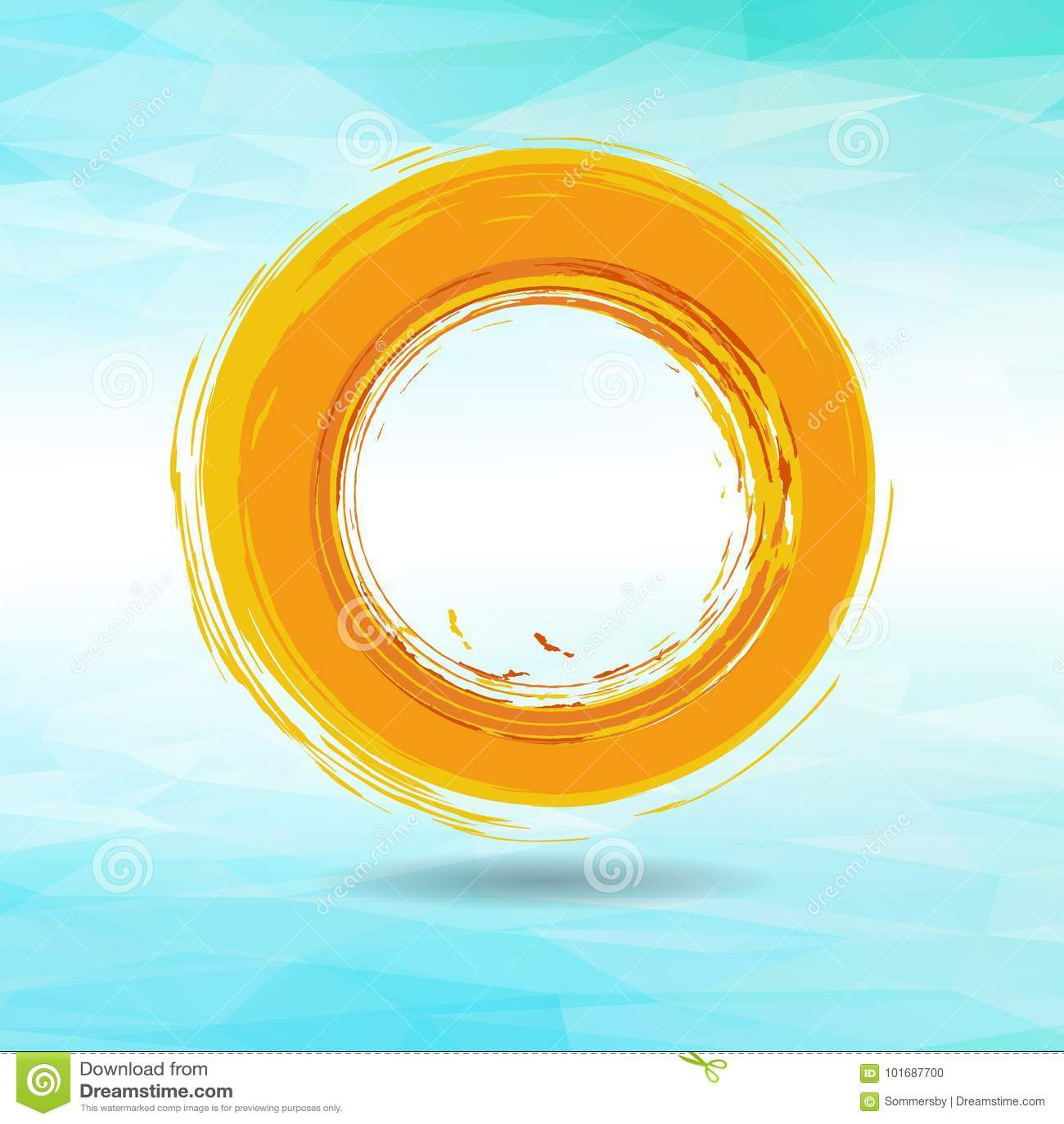 框架的,象,设计ele橙色难看的东西圈子刷子冲程