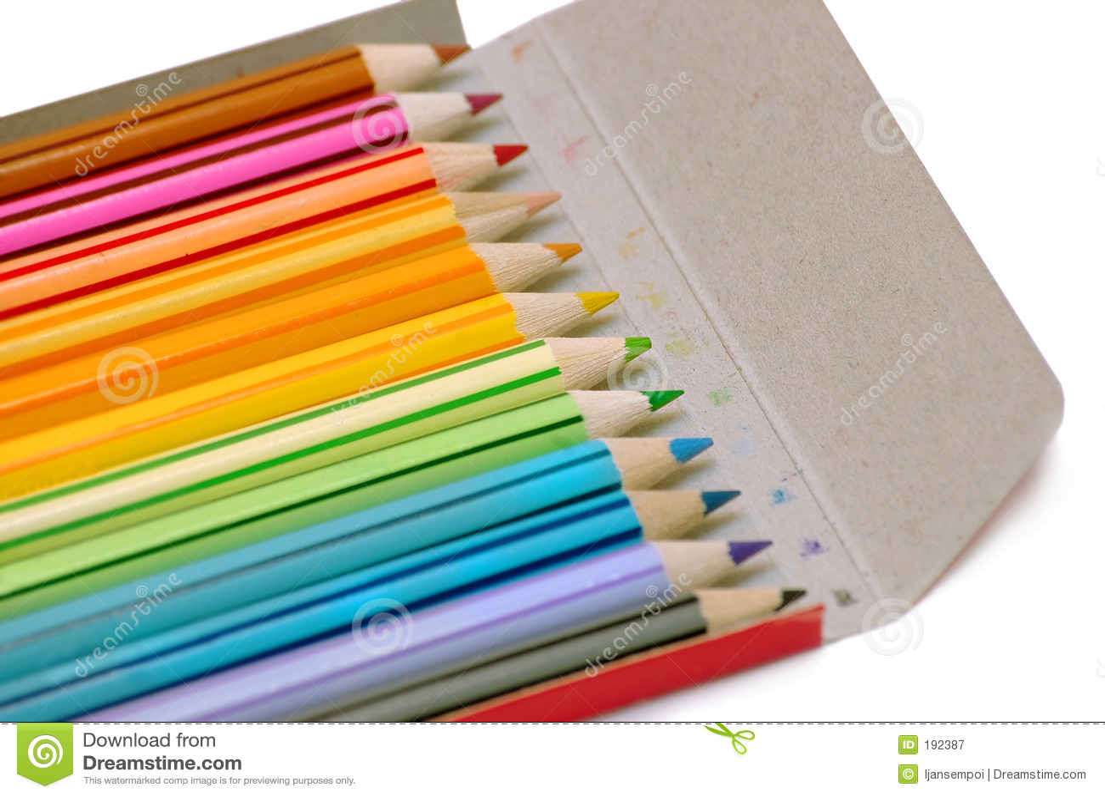案件颜色铅笔