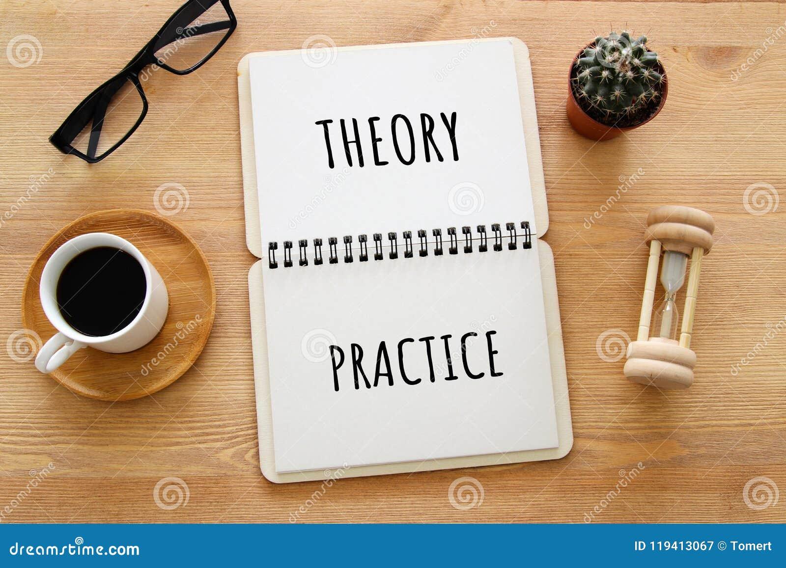 桌的顶视图图象与开放笔记本和文本新的心态新的结果的 成功和个人发展概念
