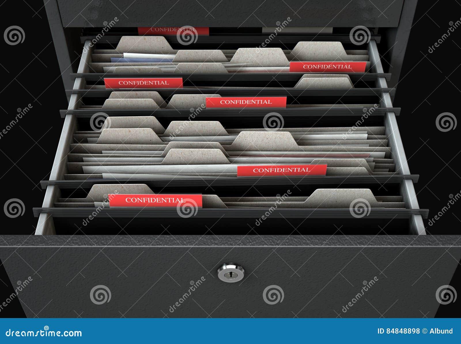 档案橱柜抽屉开放机要
