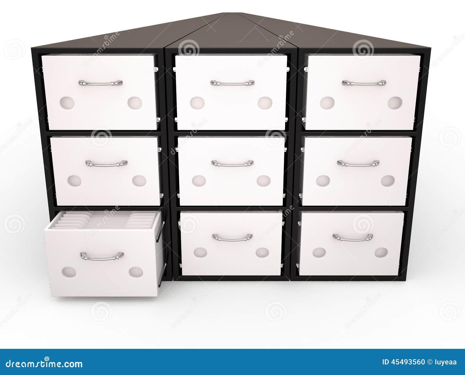 档案橱柜, 3D
