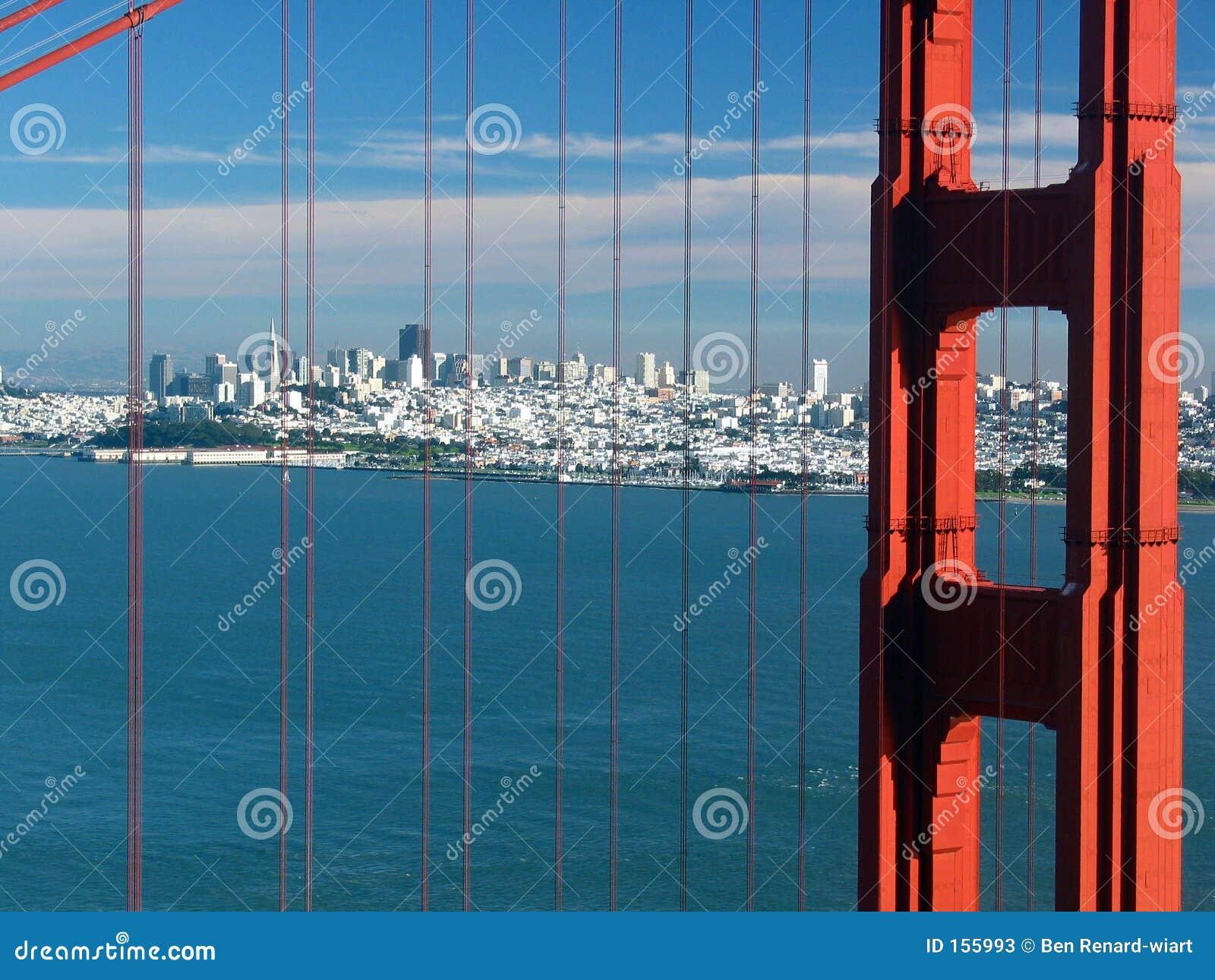 桥梁加利福尼亚弗朗西斯科门金黄圣&#