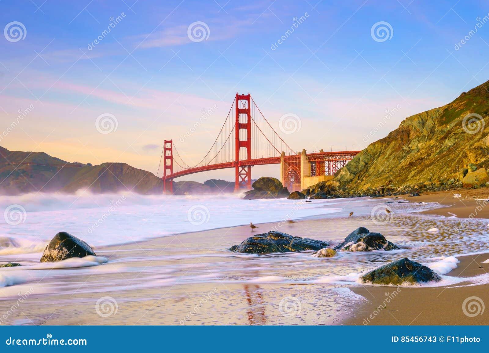 桥梁加利福尼亚弗朗西斯科门金黄圣