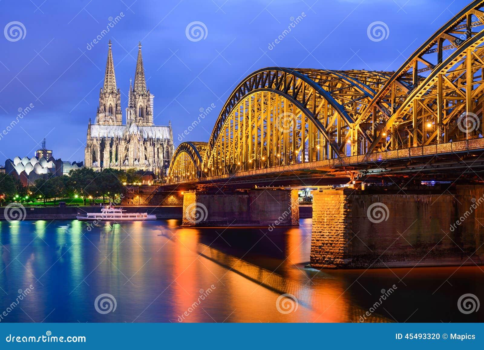 桥梁大教堂科隆香水hohenzollern的德国