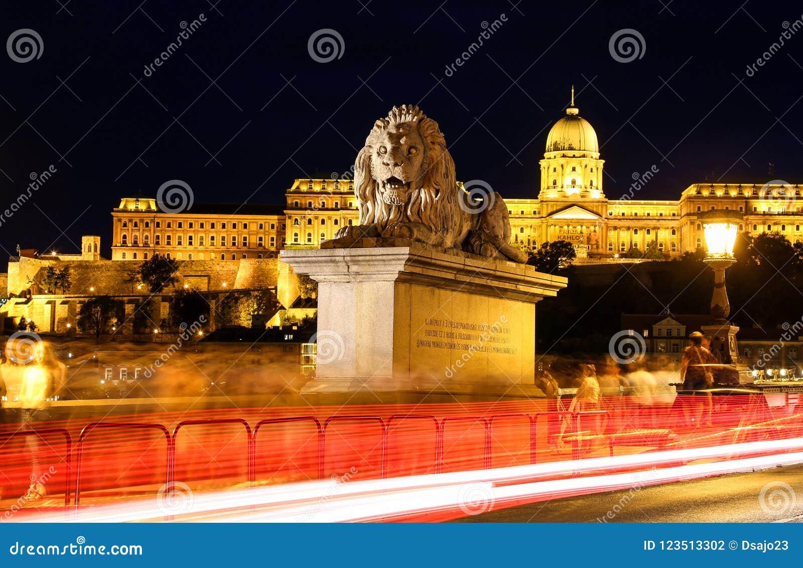 桥梁布达佩斯链狮子