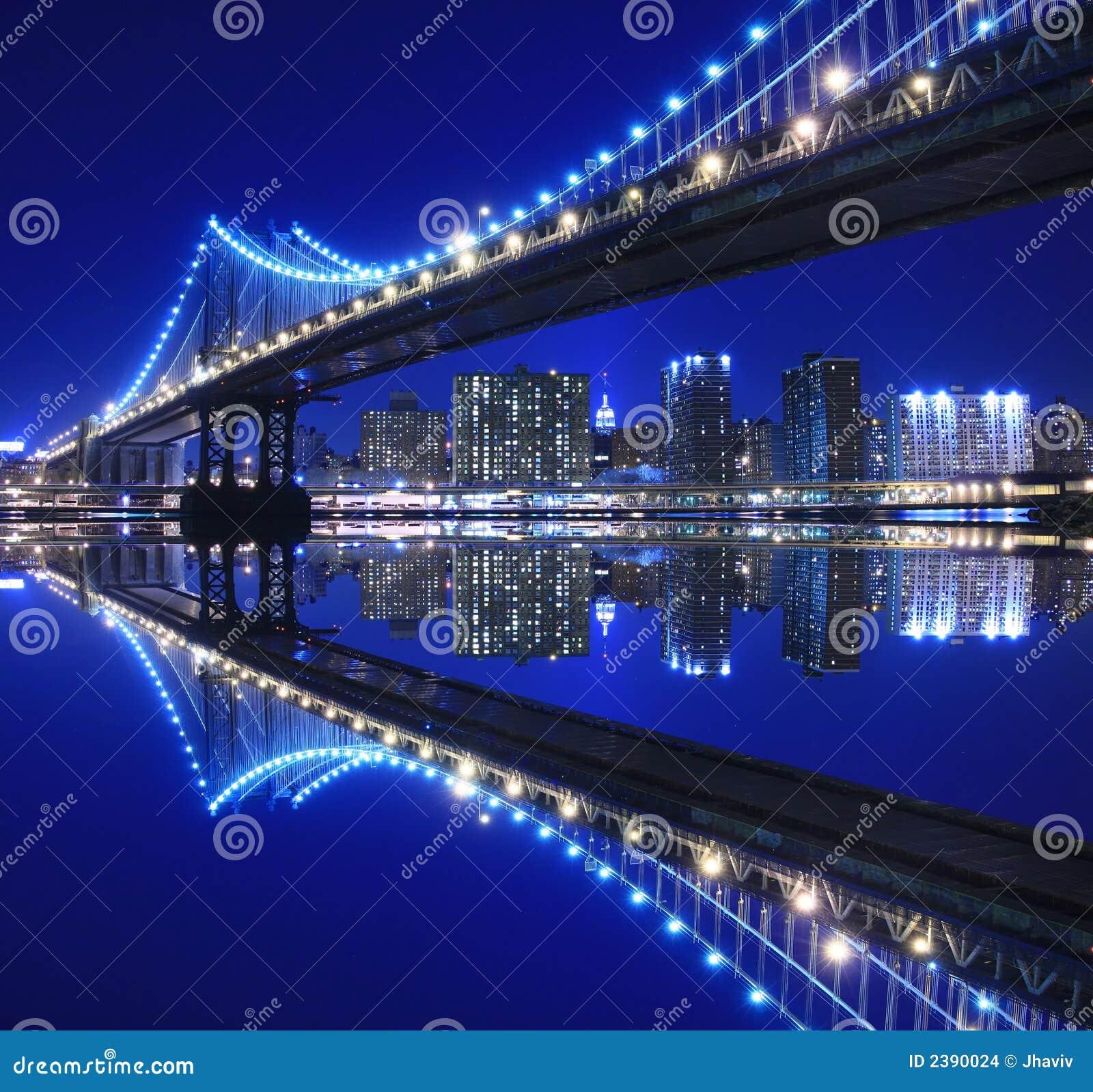 桥梁曼哈顿晚上