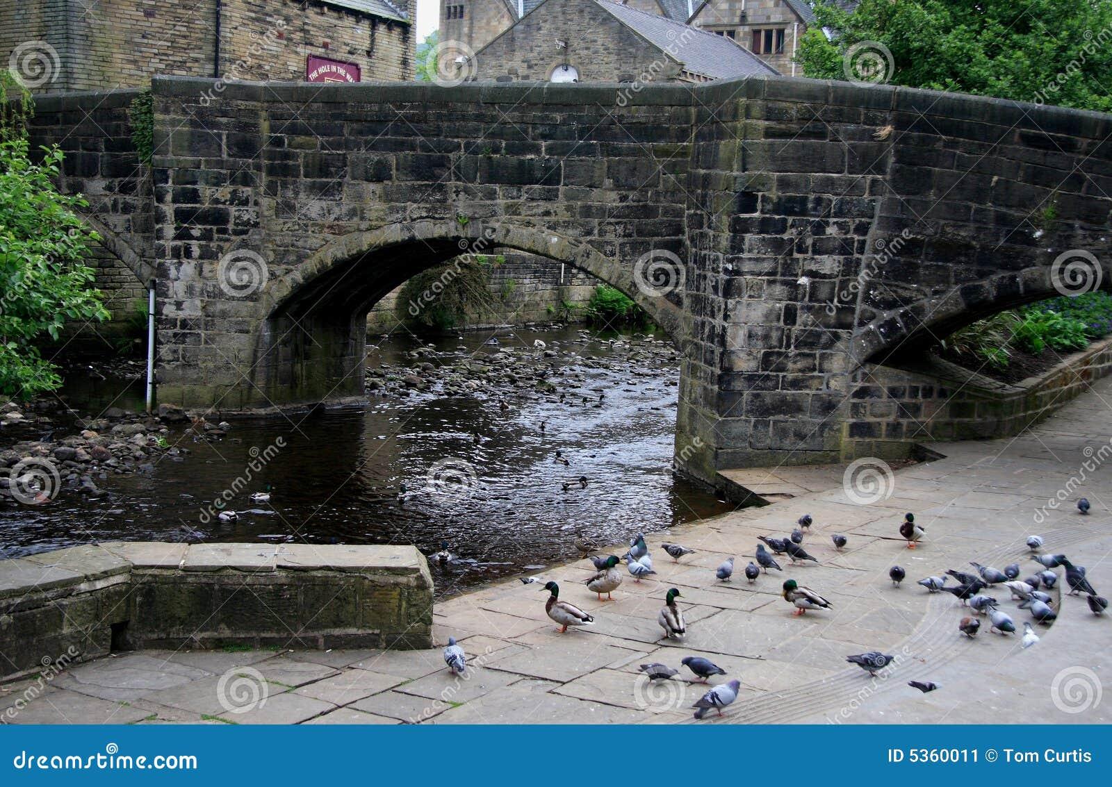 桥梁阔德hebden河