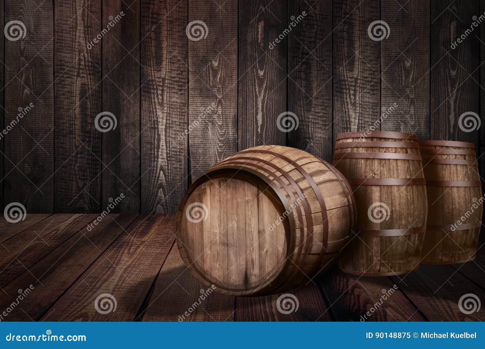 桶威士忌酒酿酒厂啤酒背景