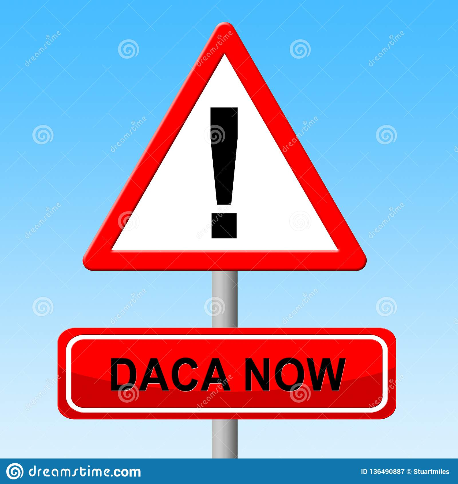 梦想家的Daca抗议成交路对公民身份-第2个例证