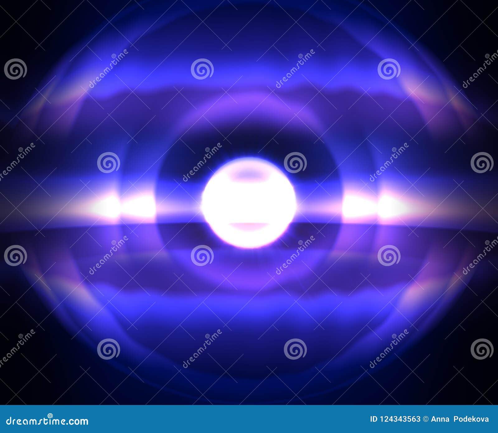 梯度艺术 与冷的太阳星的奥妙夜宇宙空间 打印和网的蓝色背景