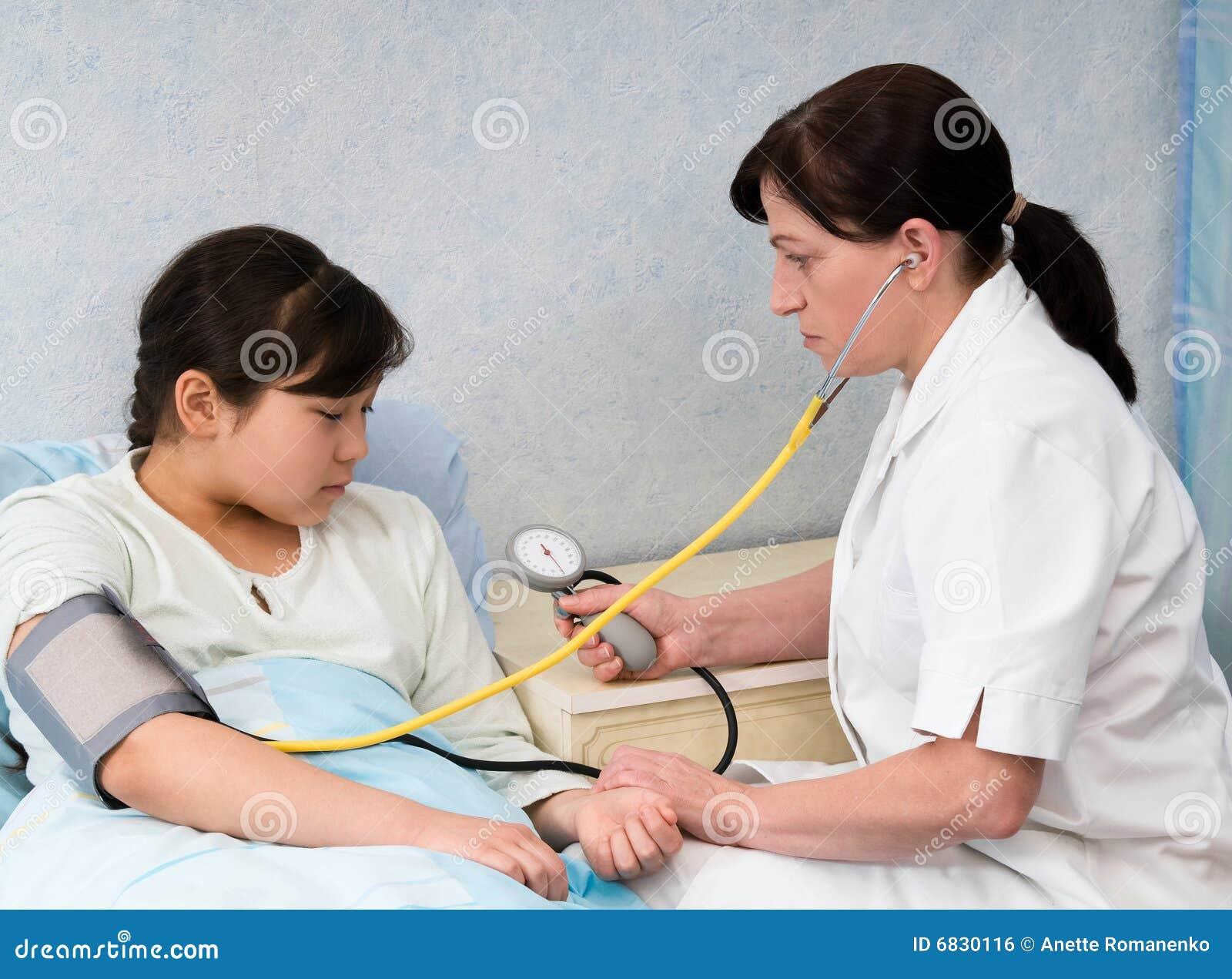 检查压的血液