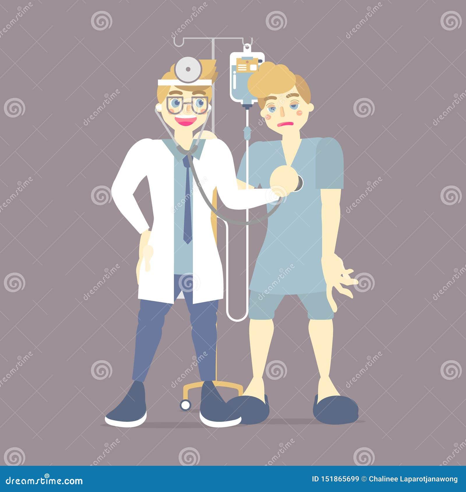 检查血压的医生,患者的关心的测量的有IV静脉内,盐袋子的,医疗保健,身体检查