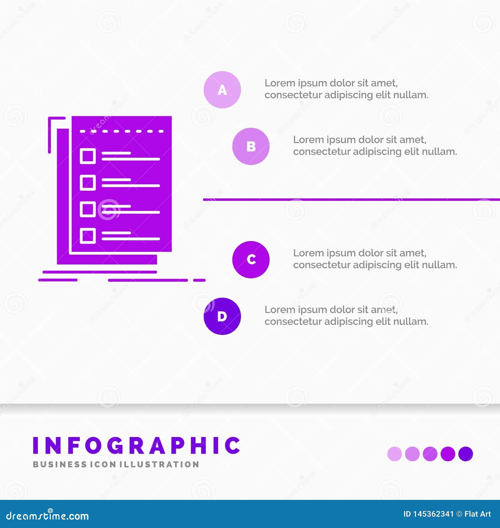 检查,清单,名单,任务,做网站和介绍的Infographics模板 r