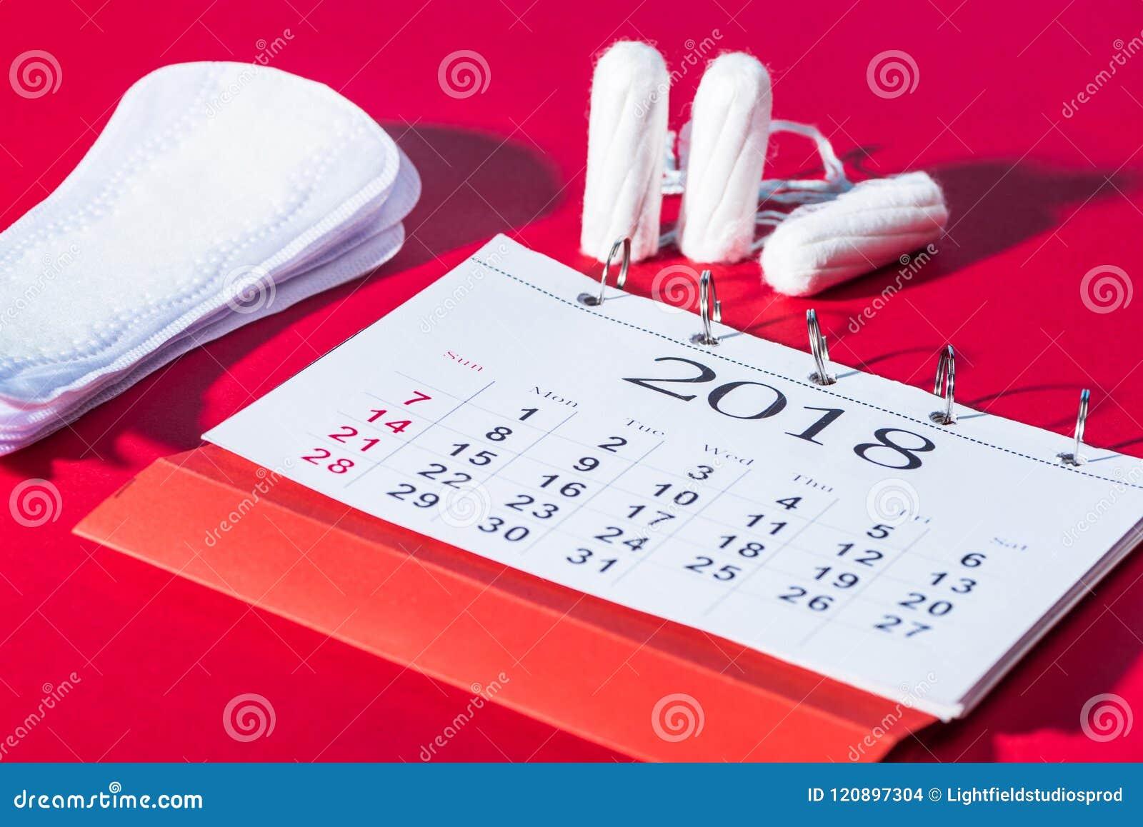 棉塞、每日垫和日历