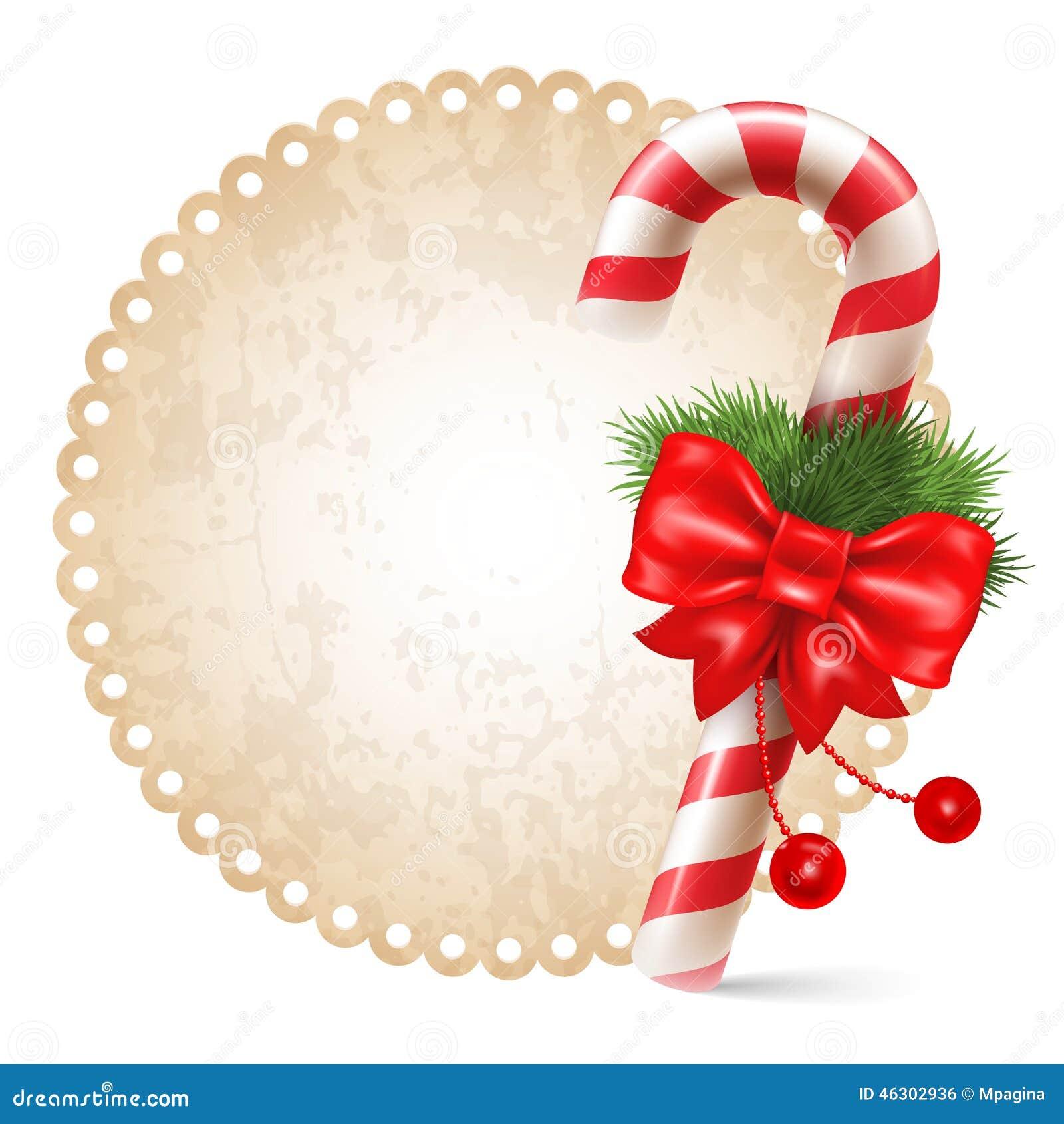 有圣诞节装饰的,在葡萄酒背景的寒假标志棒棒糖 也corel凹道例证图片