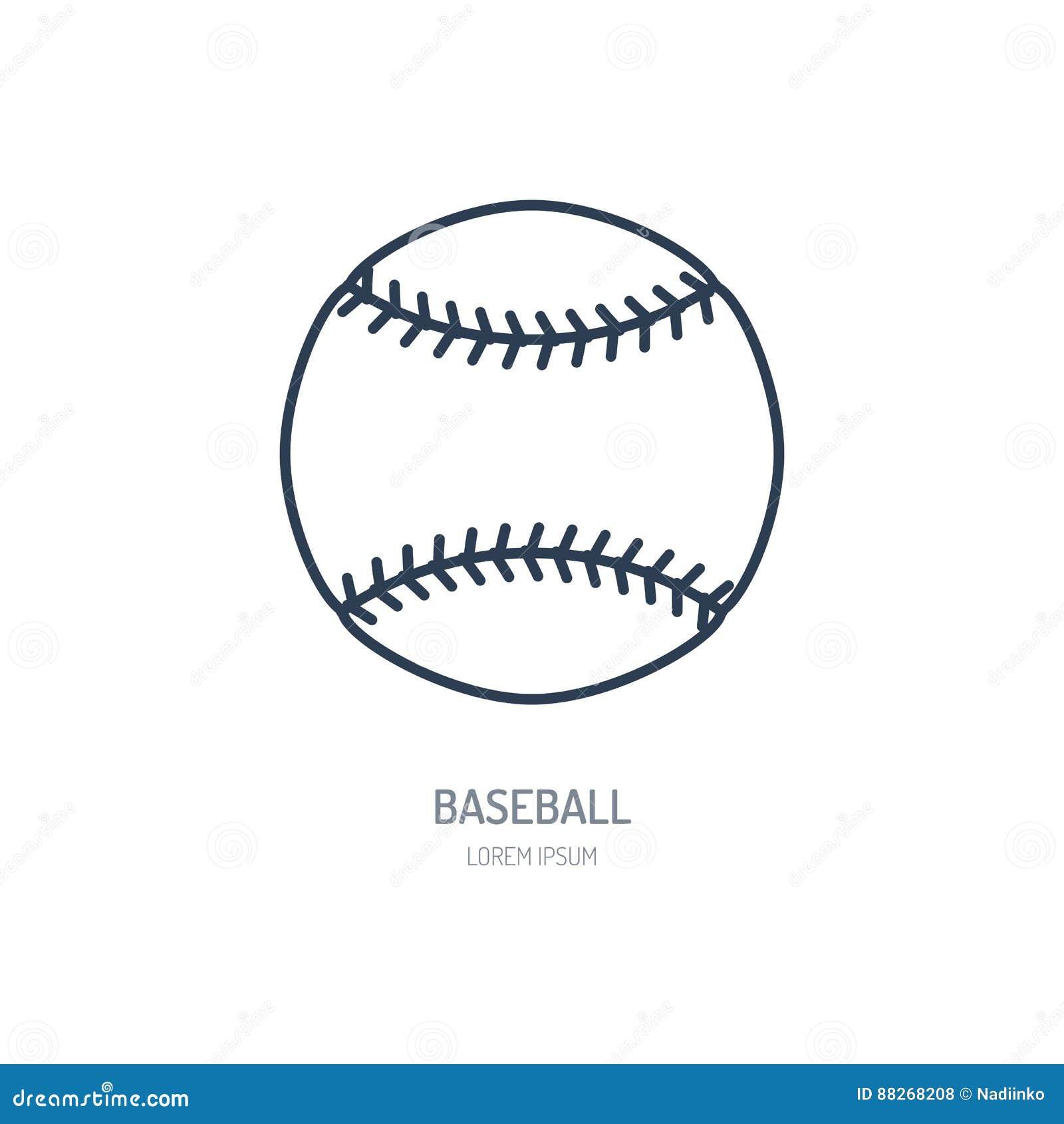 棒球,垒球传染媒介线象 球商标,设备标志 体育竞赛例证