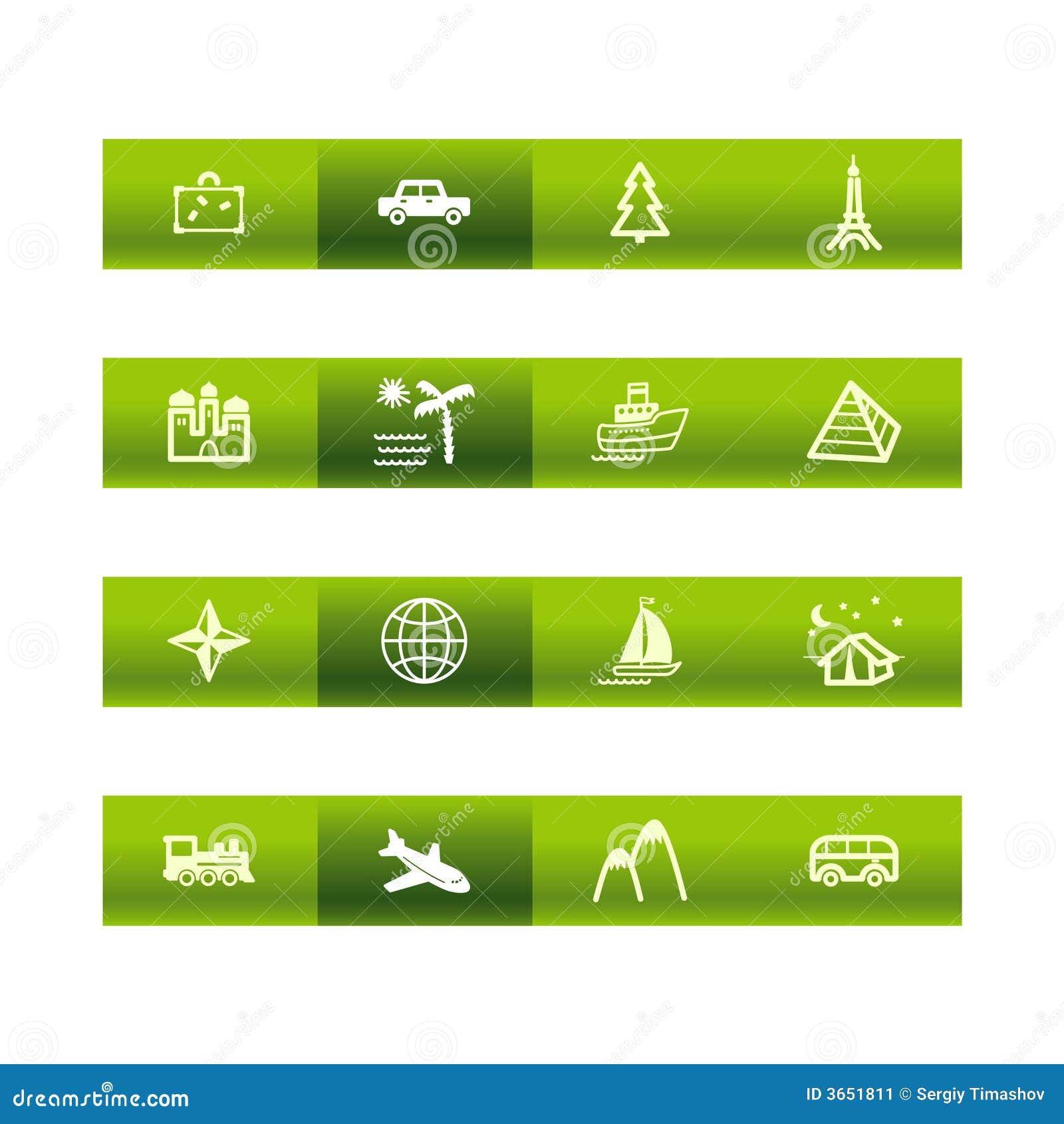 棒绿色图标旅行