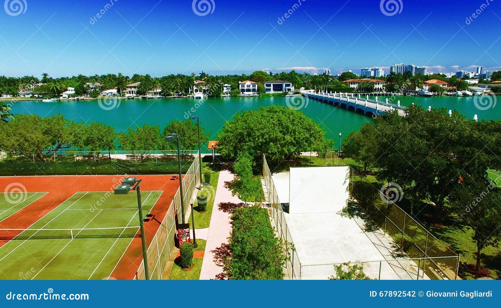 棕榈岛,迈阿密-鸟瞰图