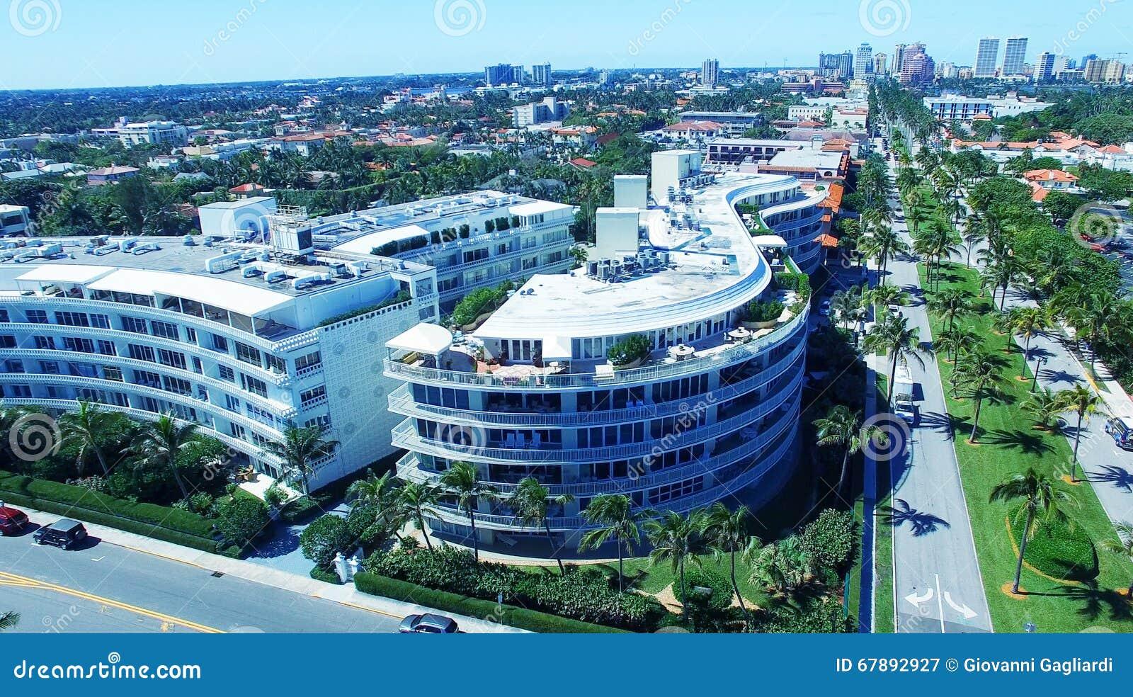 棕榈滩,佛罗里达 海岸线惊人的鸟瞰图
