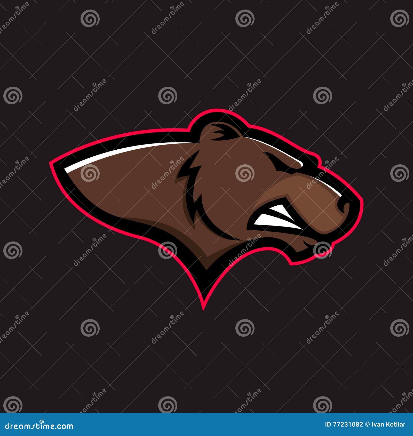 棕熊头 北美灰熊头