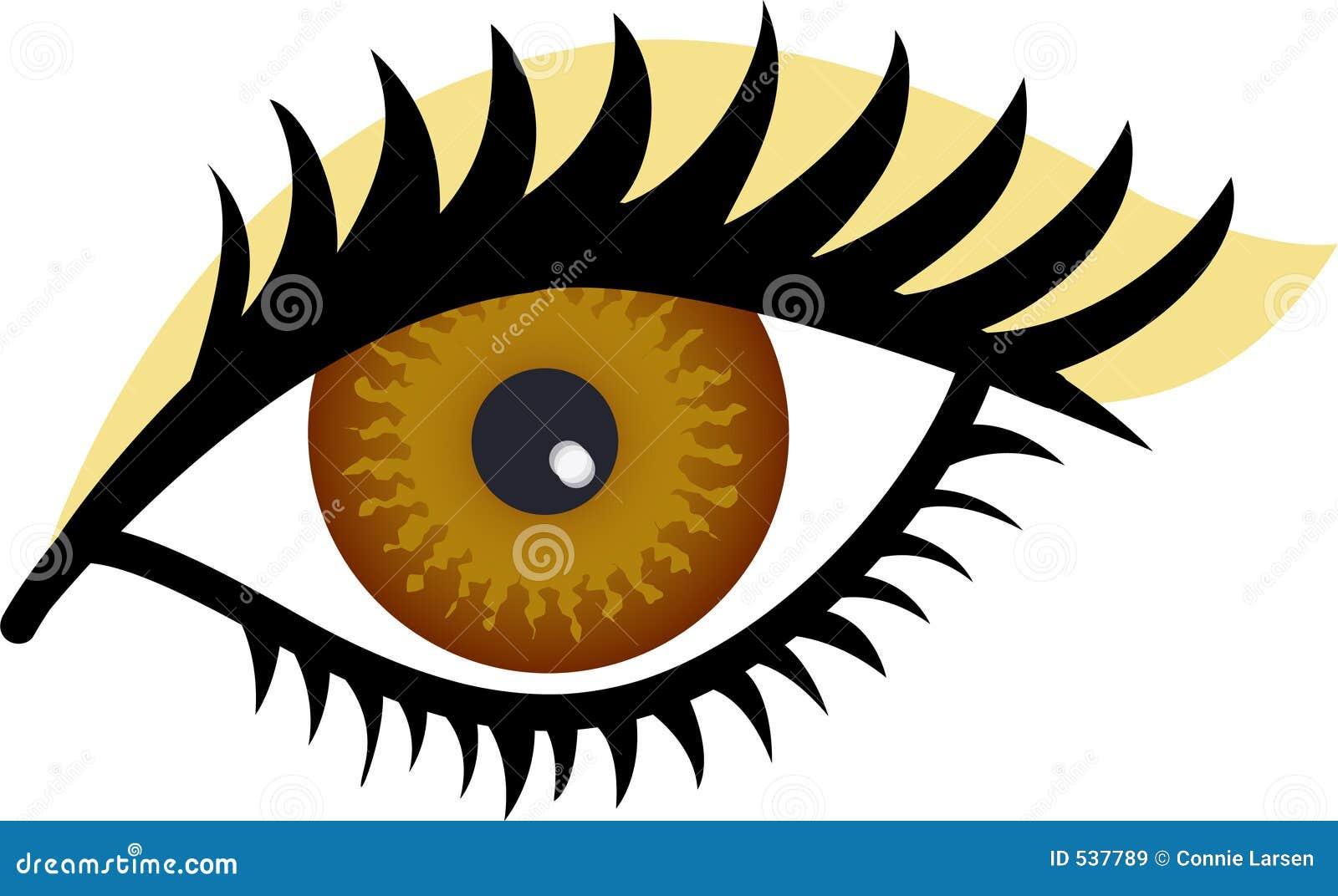 Download 棕色眼睛 库存例证. 插画 包括有 图画, 例证, 女性, 金子, 角膜, 参见, 眼睛, 透镜, 图标, 符号 - 537789