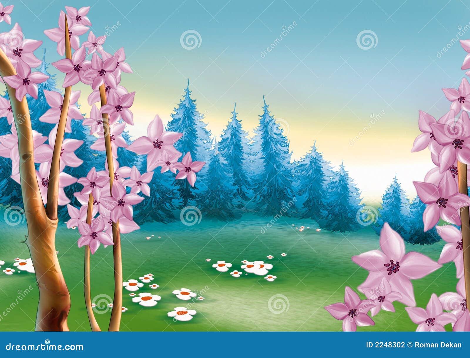 森林草甸春天