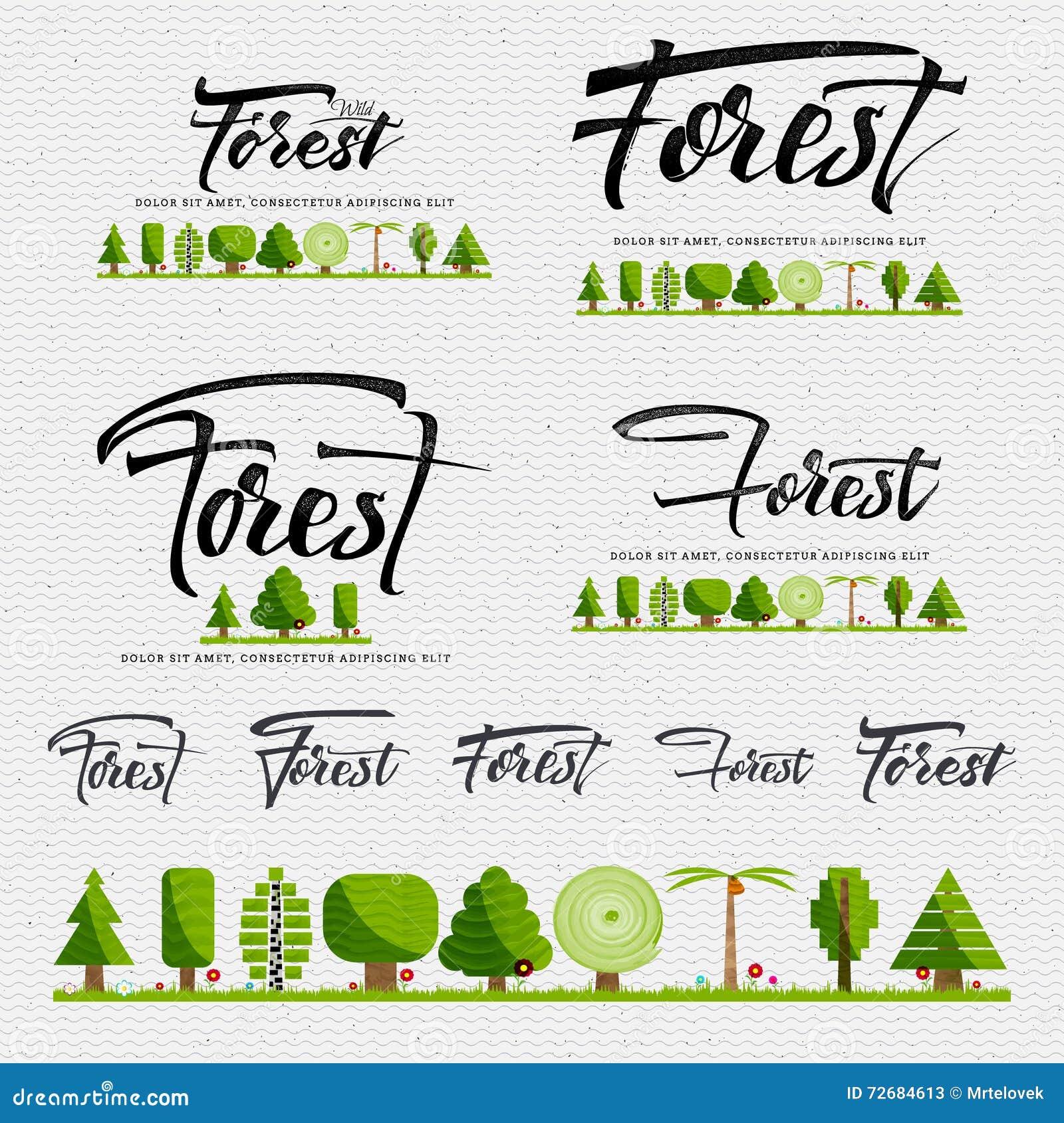 森林-徽章,贴纸可以用于设计网站,衣裳,做广告