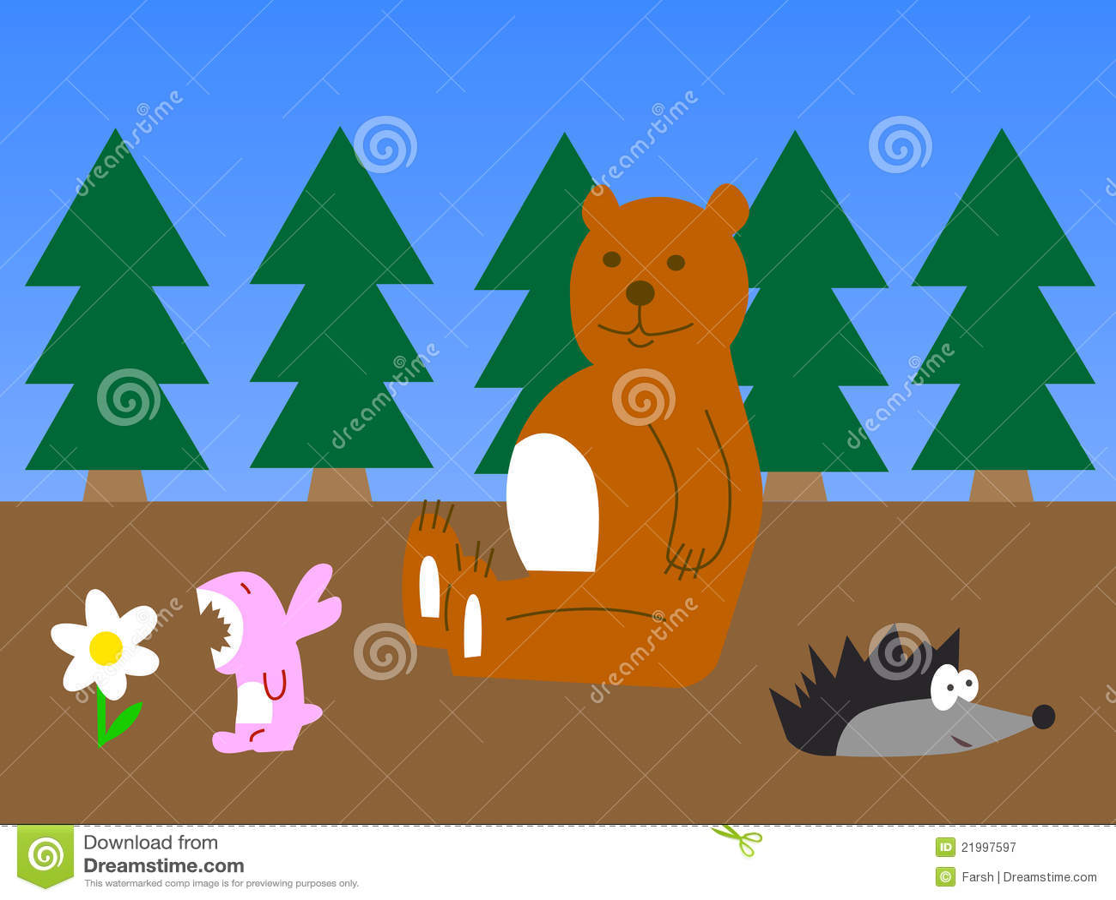 动物森林滑稽的例证.图片