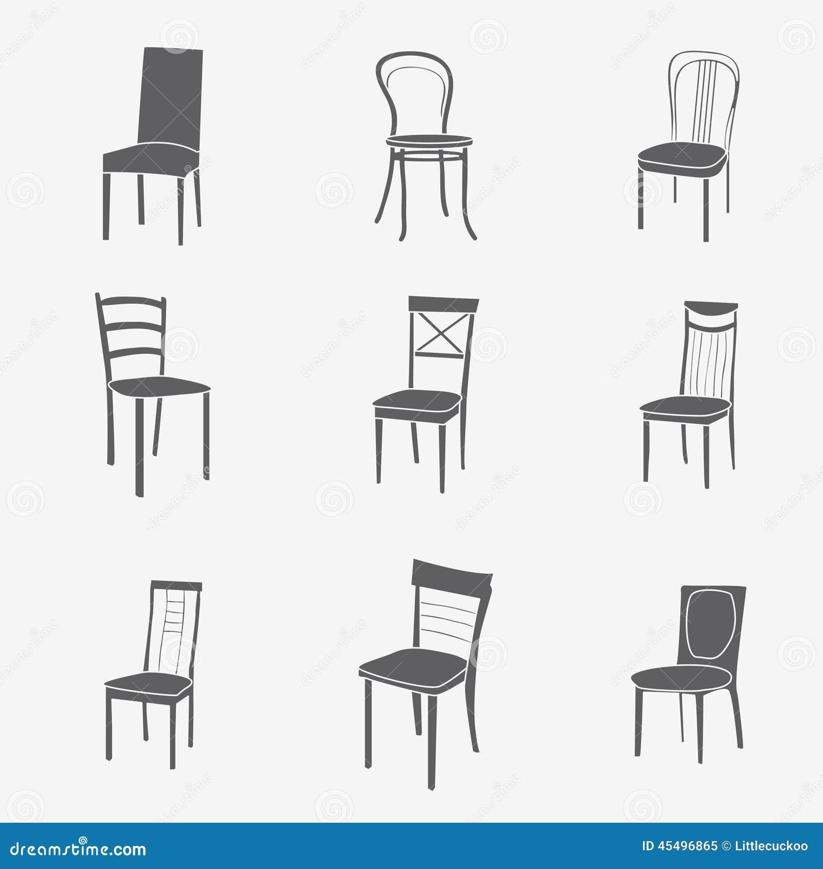 椅子象集合 标志家具
