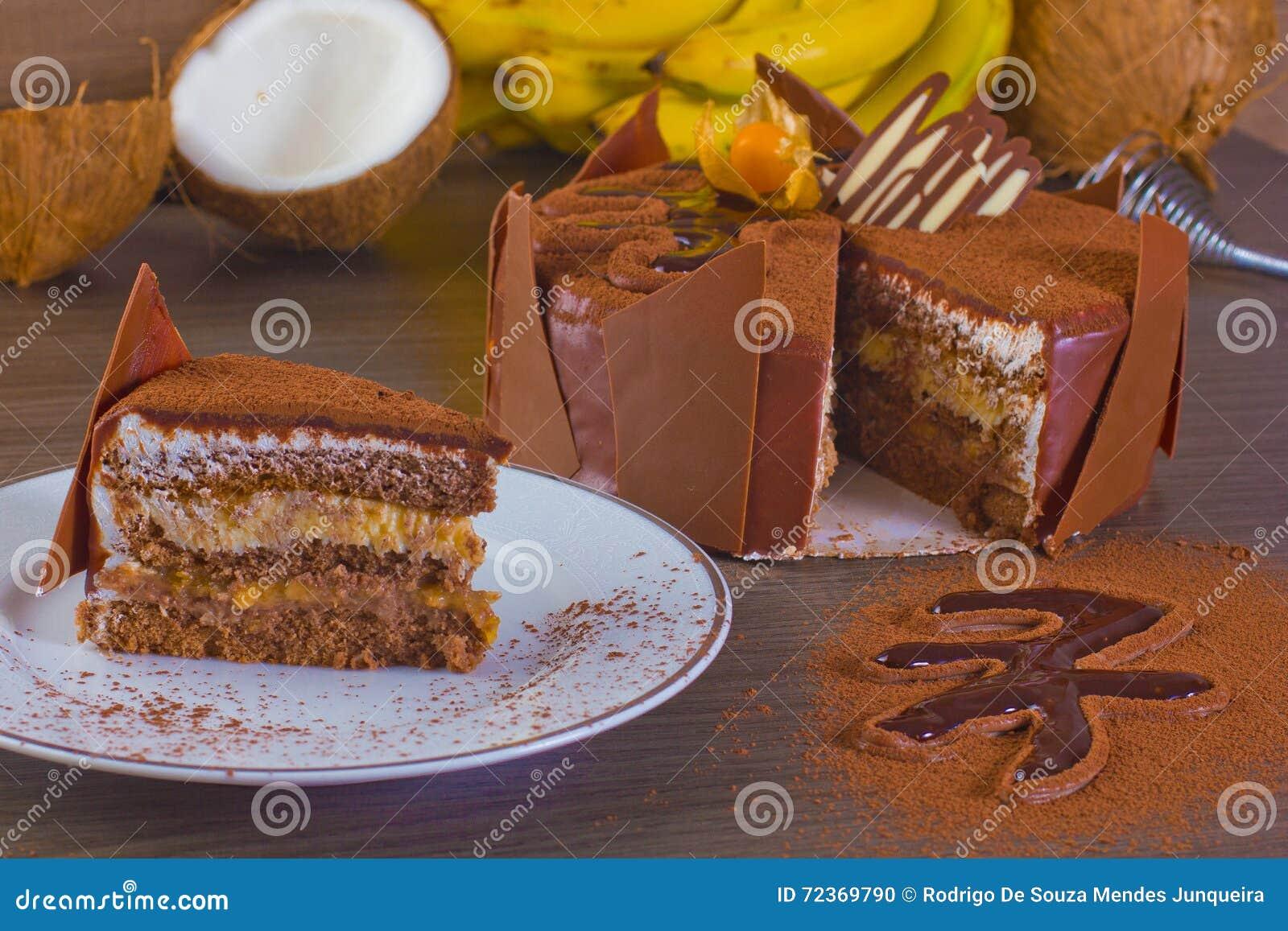椰子和香蕉蛋糕