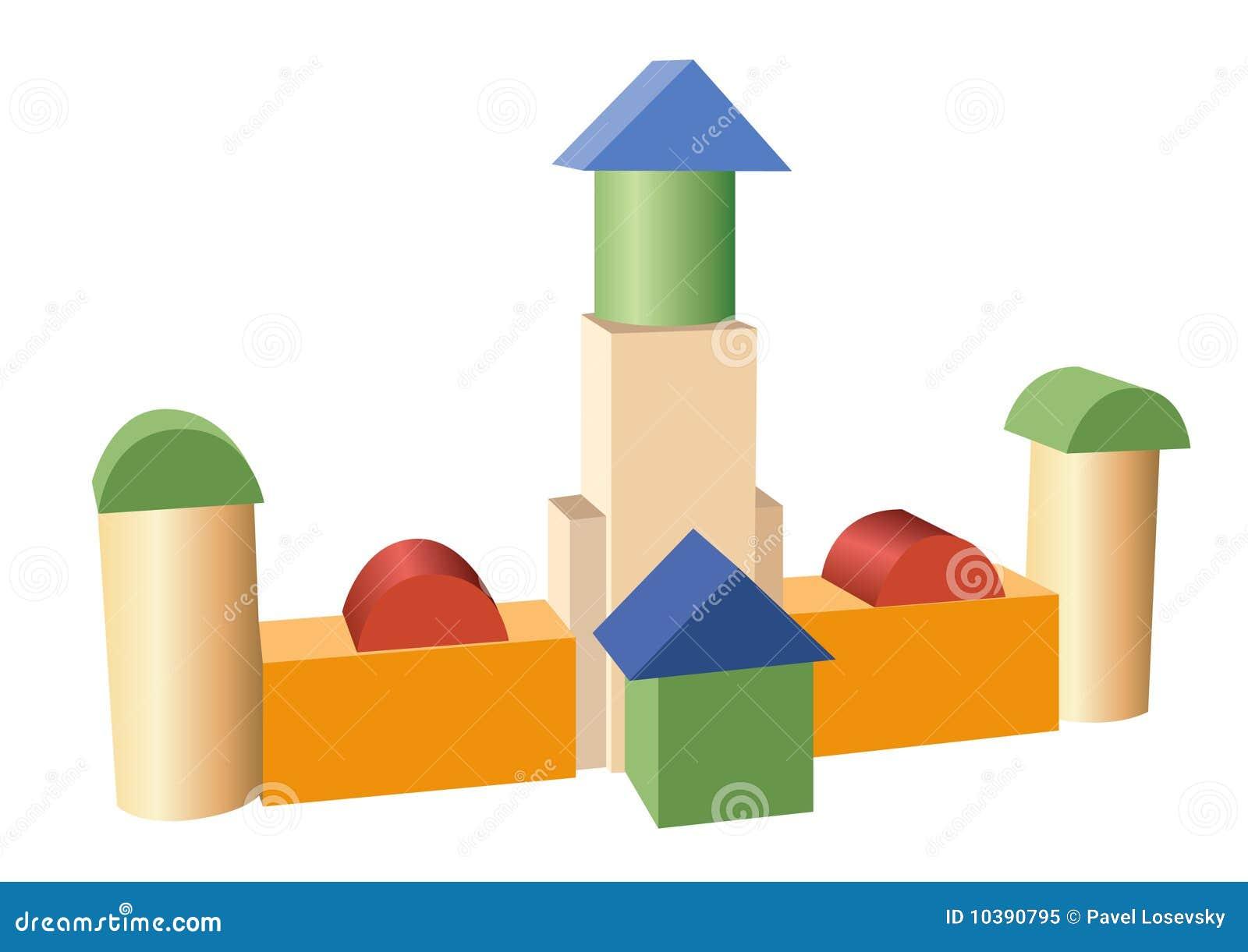 楼房建筑玩具向量